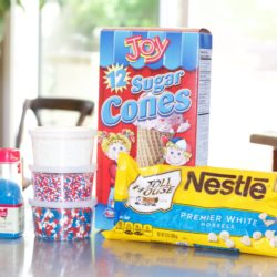Fourth of July Ice Cream Cones