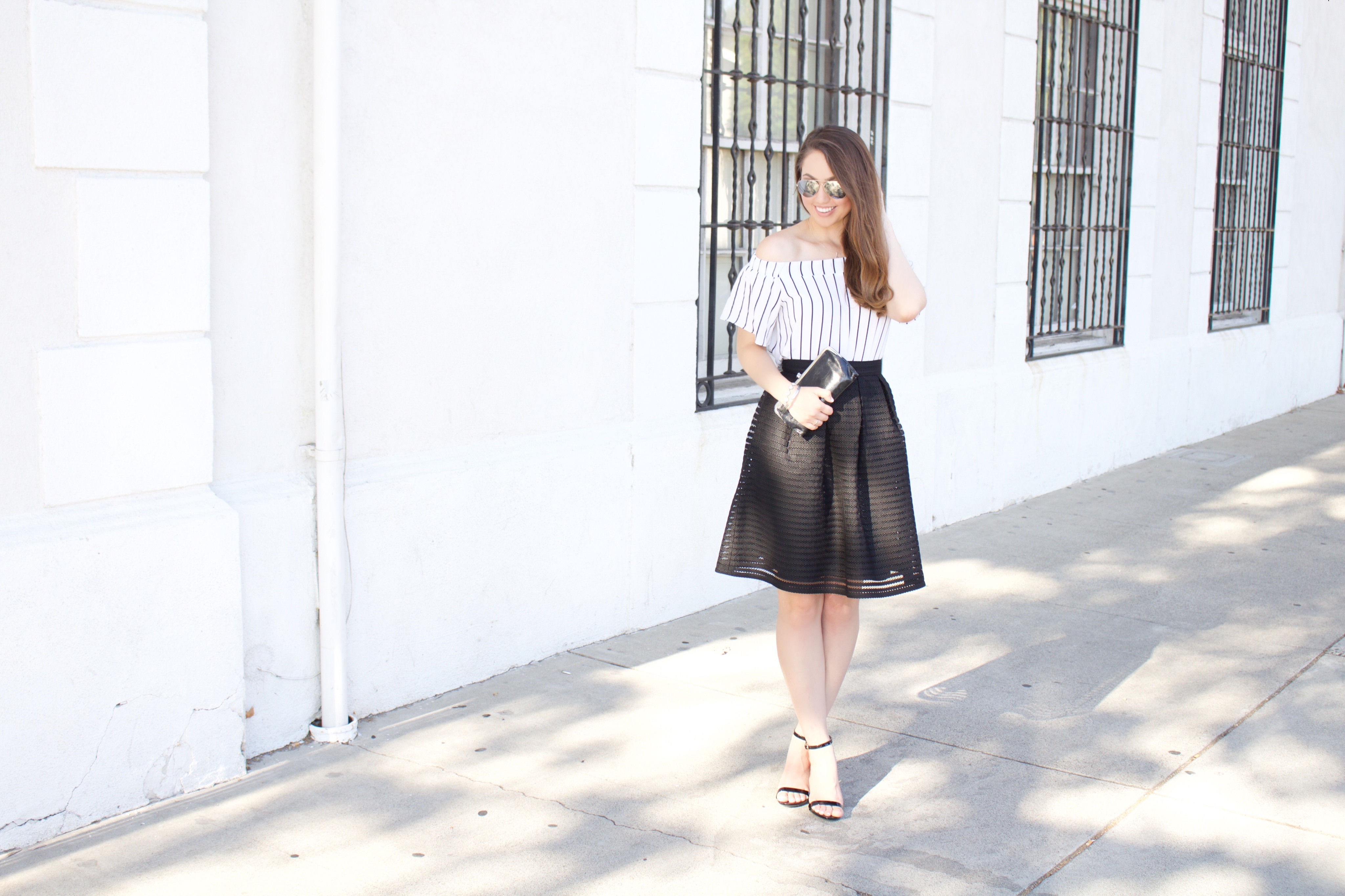 black and white night out outfit - My Styled Life