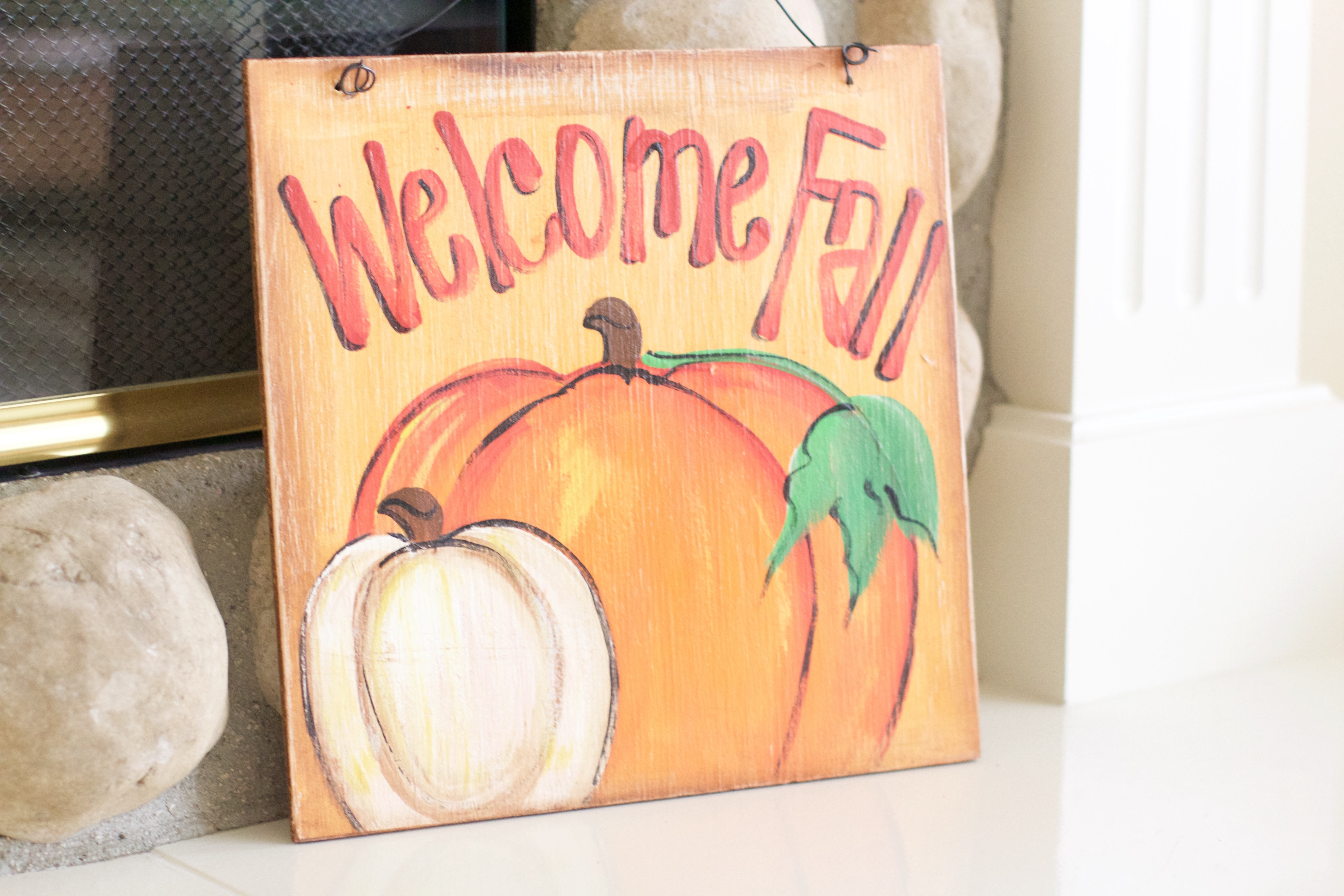 Welcome Fall Sign - My Styled Life