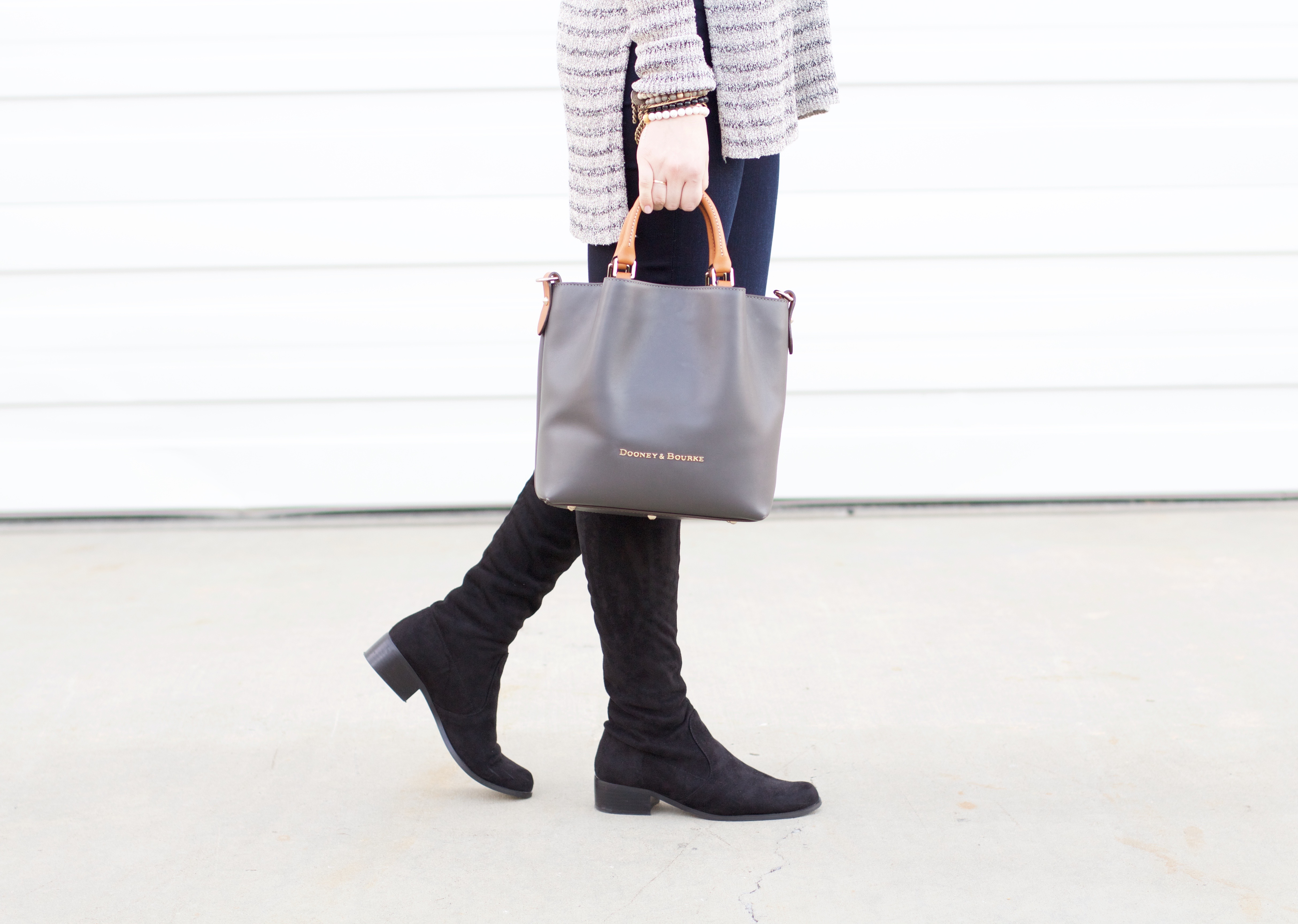 black suede over the knee boots - affordable