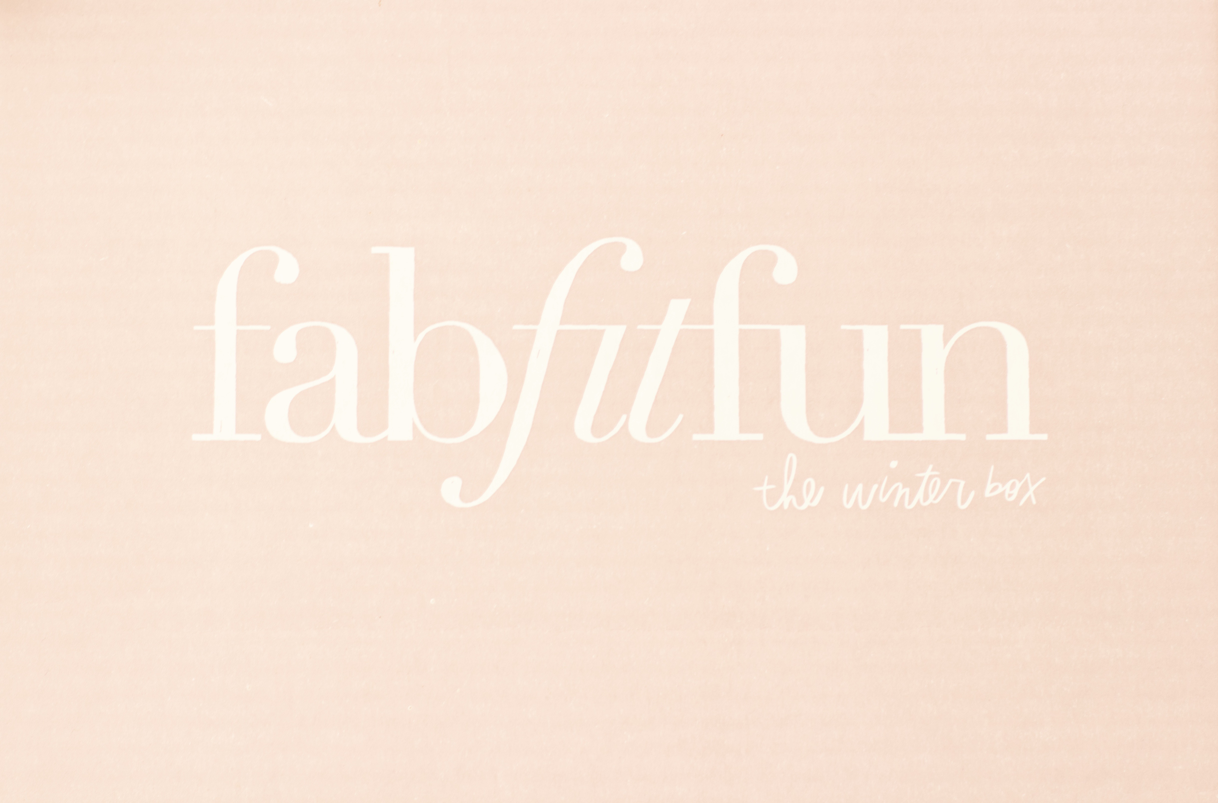 FabFitFun Winter 2016 Box review
