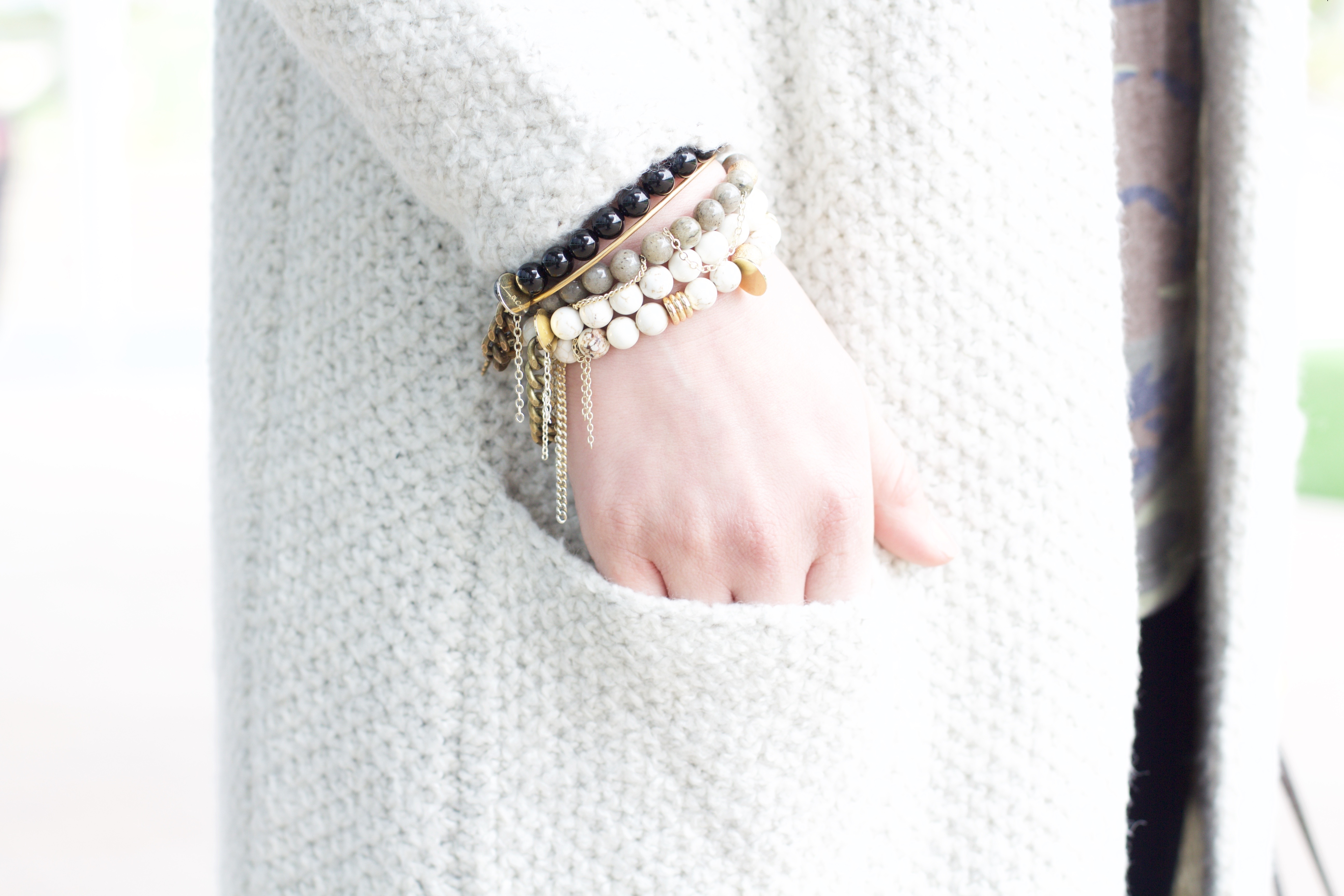 The Lace Project beaded bracelets