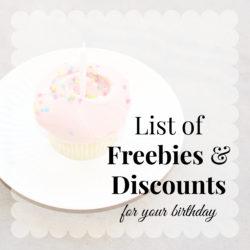 Birthday Freebies & Discounts
