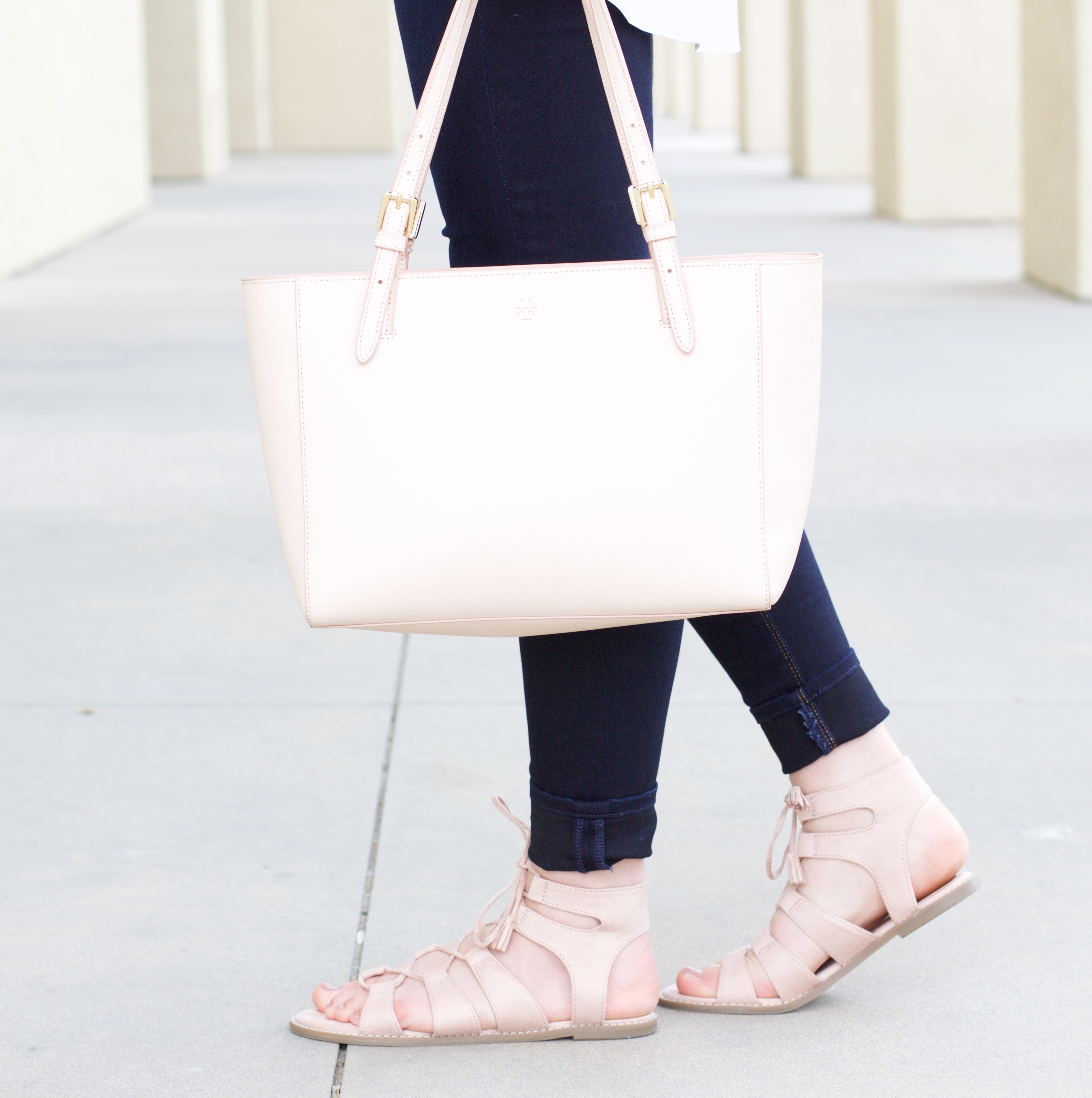 old navy blush pink lace up sandals