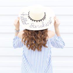 Hello Sunshine…Sequin Floppy Sun Hat
