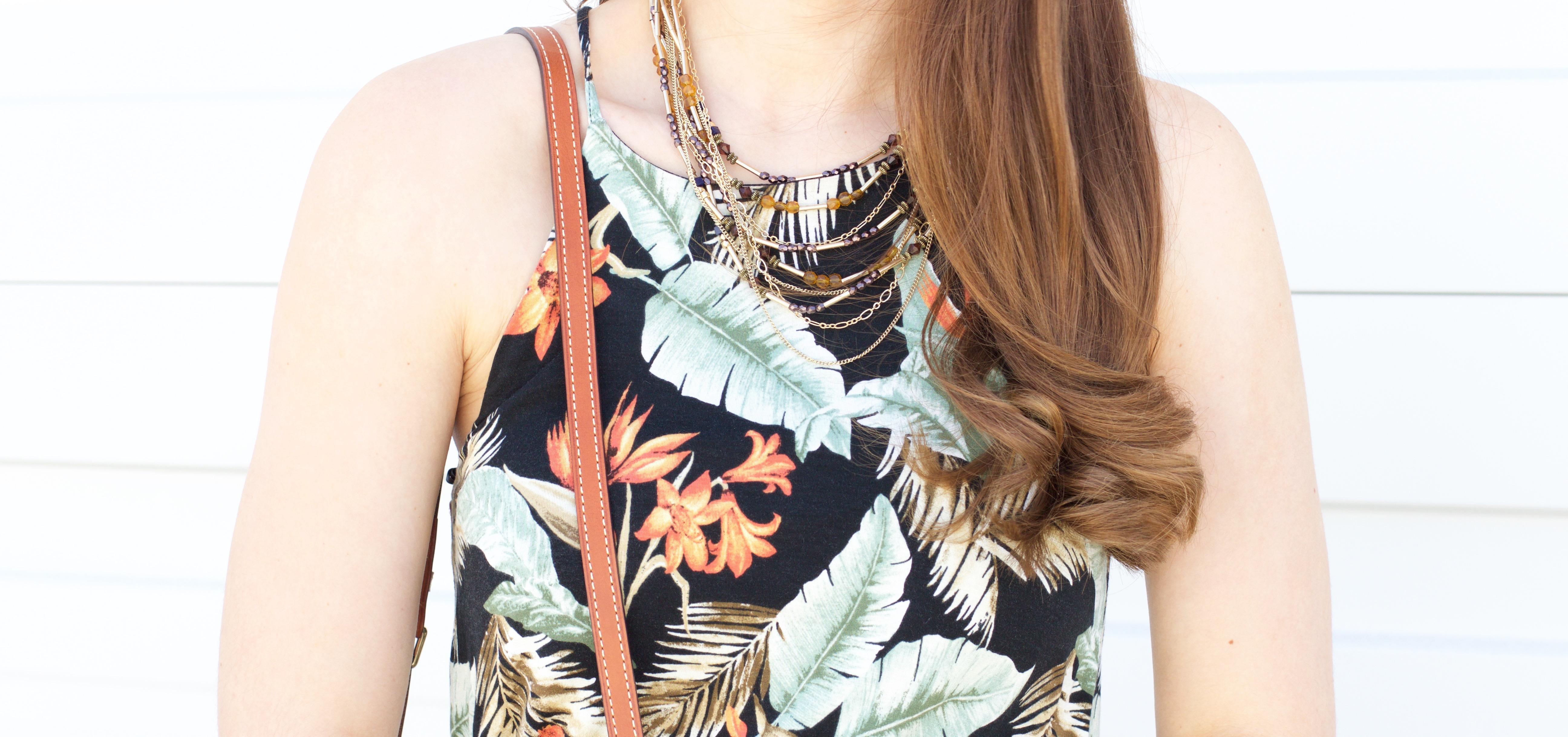 Hawaiian print maxi dress