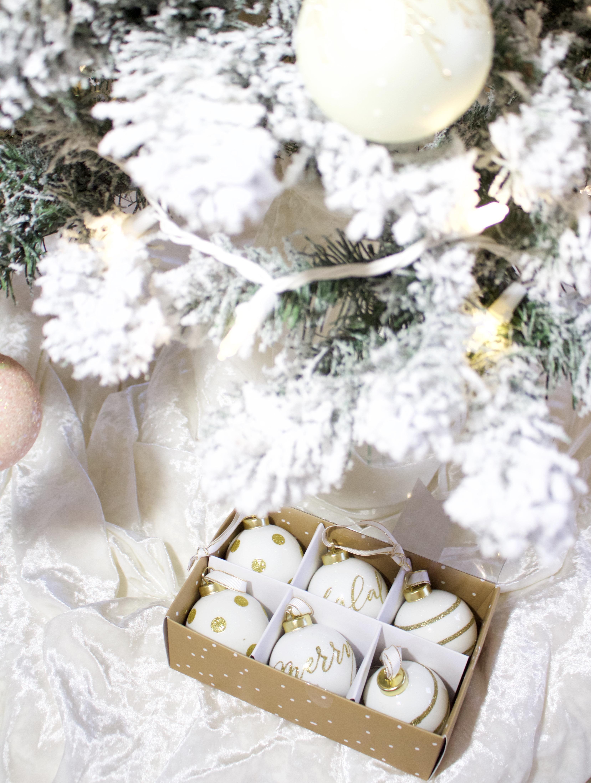 sugar paper target ornaments