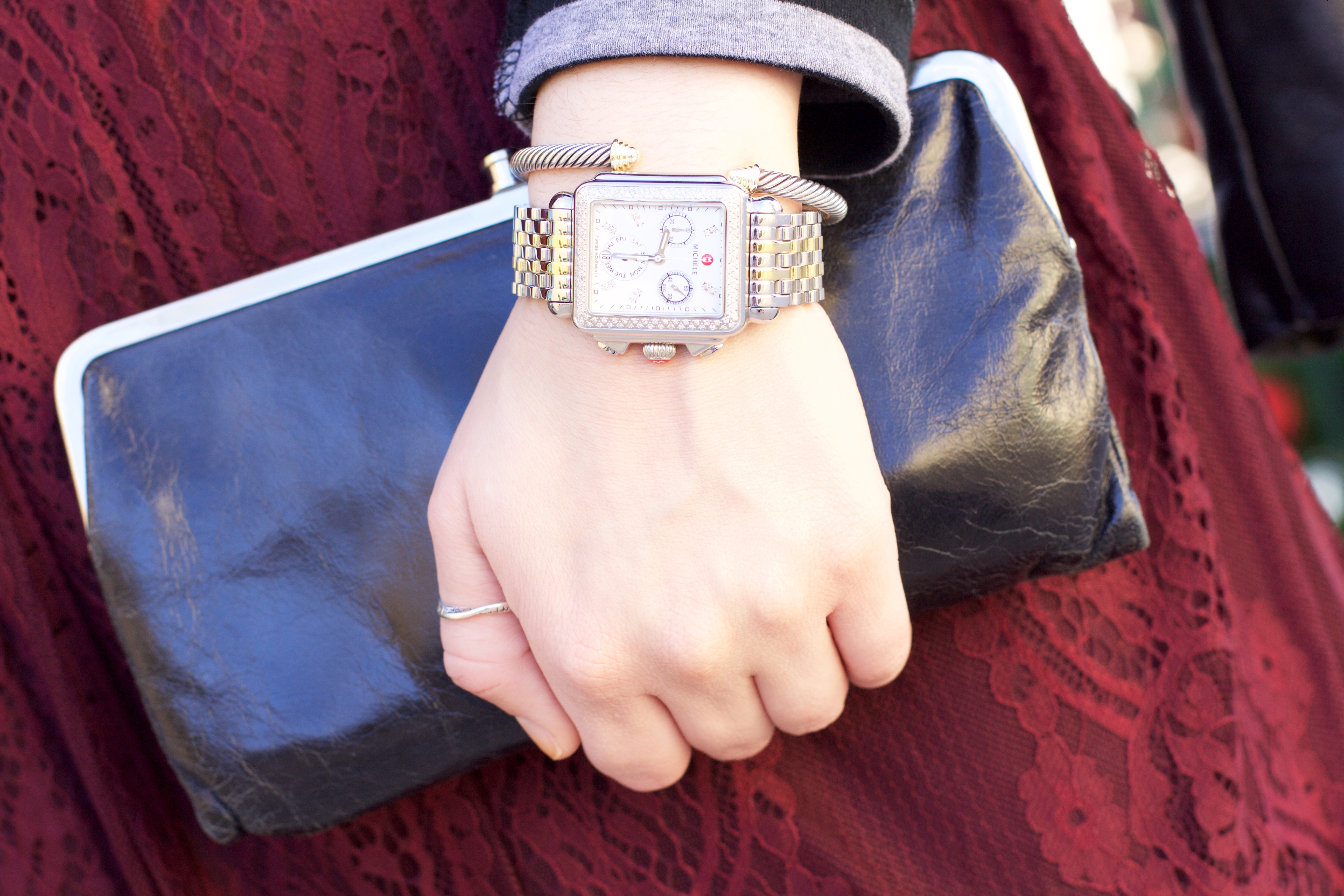 Michele Watch Diamond Deco and David Yurman