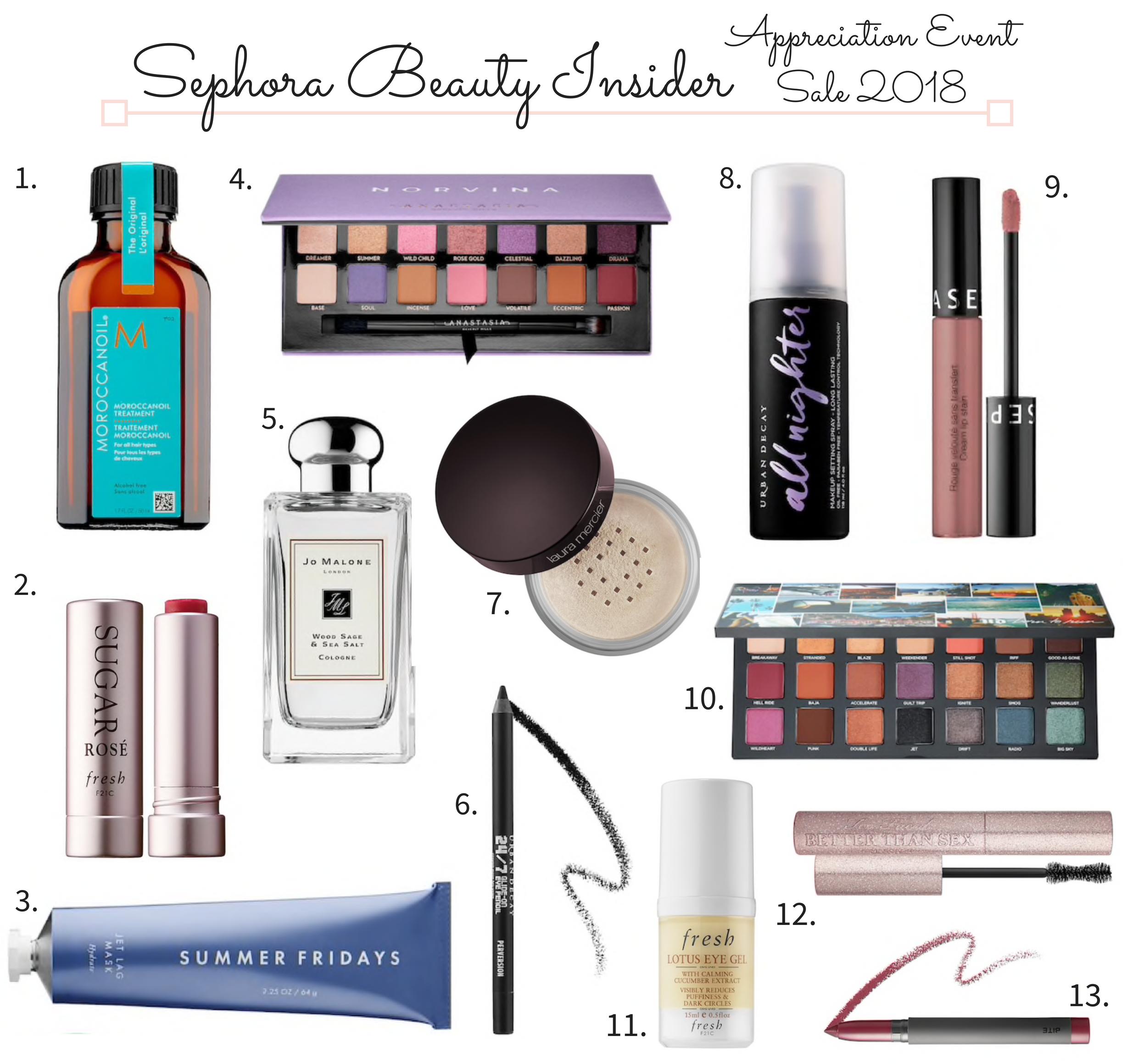 Sephora Beauty Insider Appreciation Sale 2018