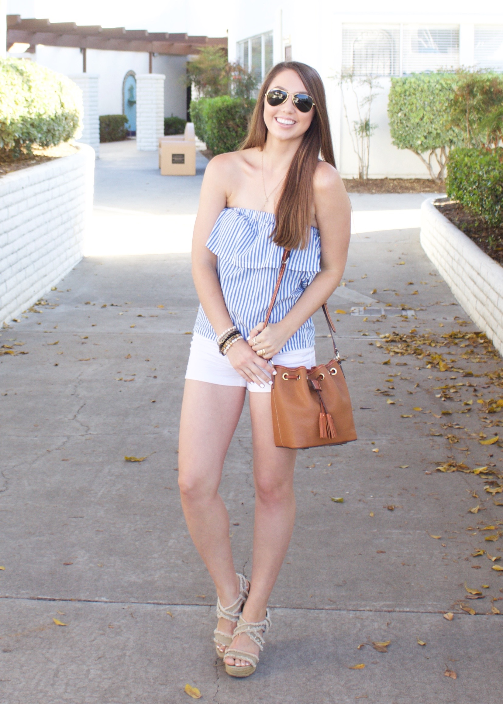 Striped Strapless Top - My Styled Life