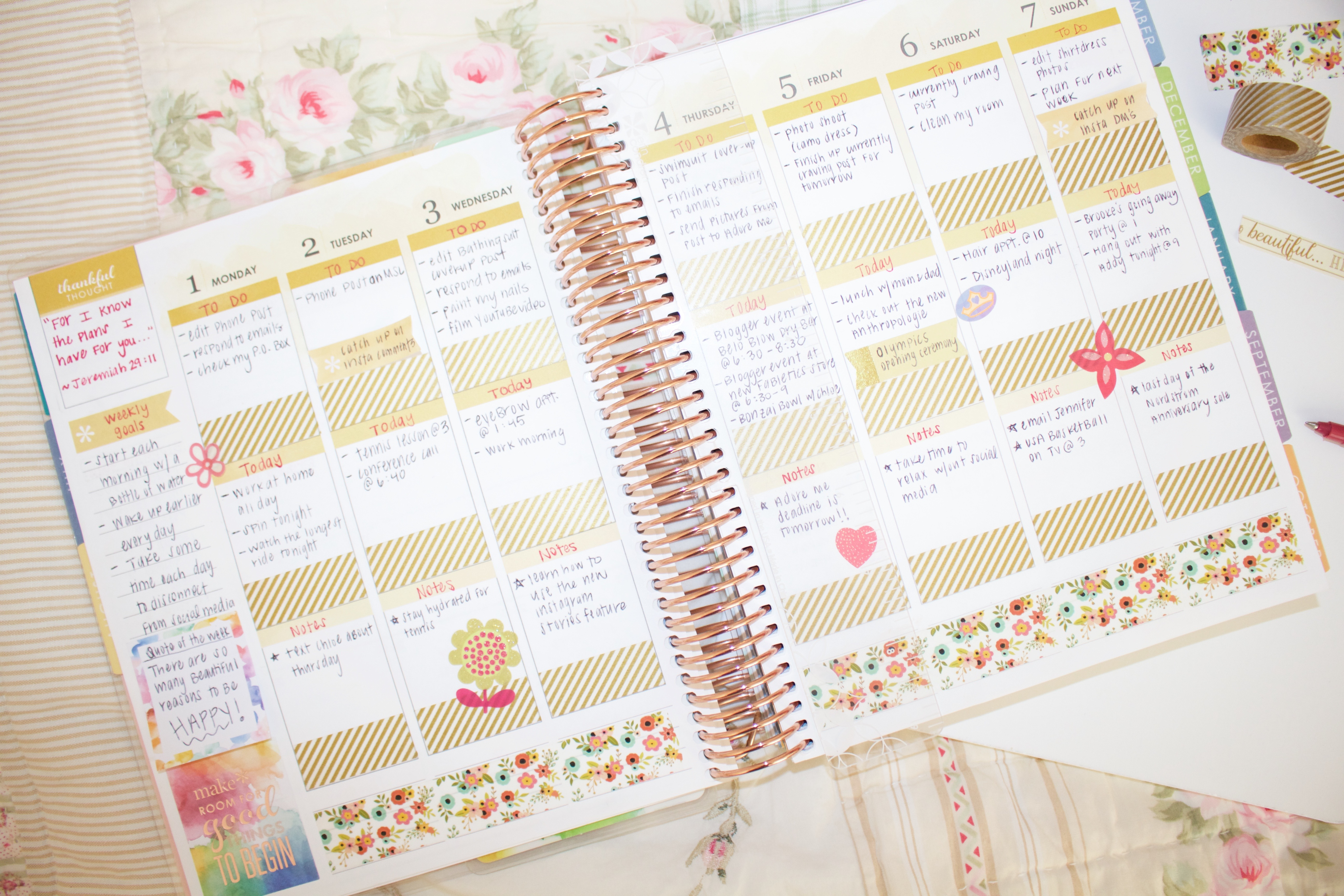 How I Organize my Erin Condren 2017 LifePlanner - My Styled Life