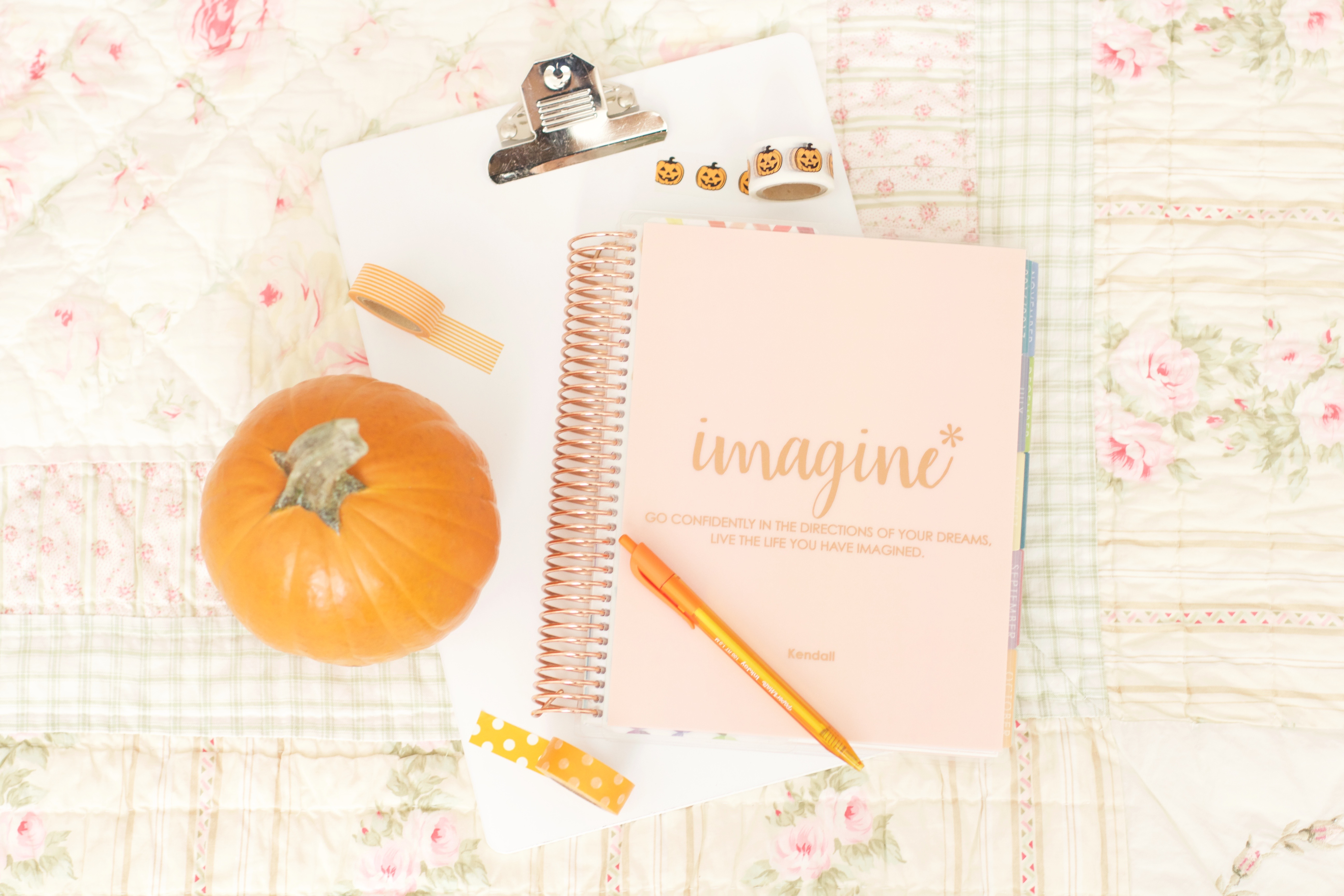 How to Decorate Erin Condren LifePlanner October Idea