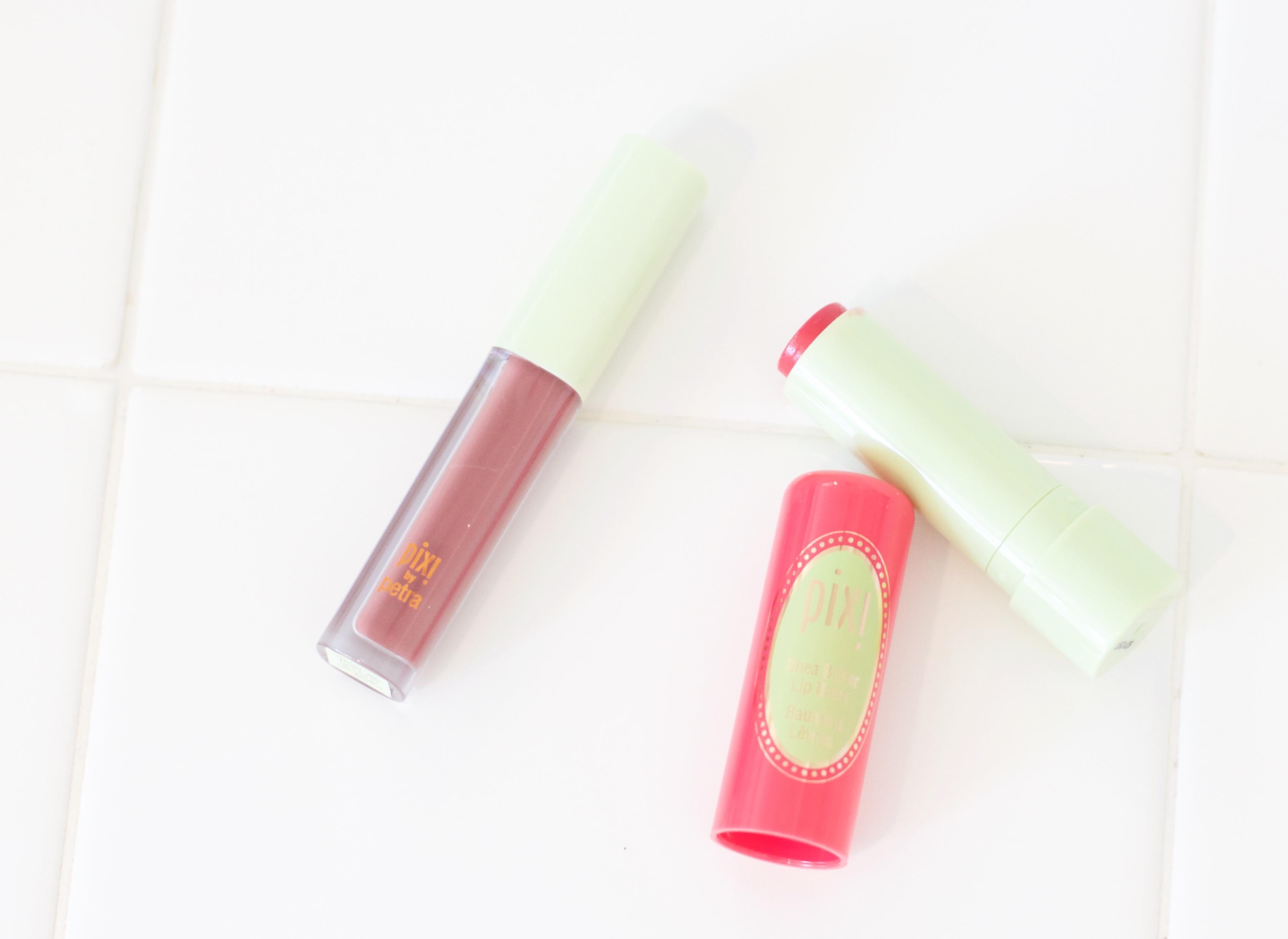 Pixi Liplift max lip gloss and shea butter lip balm review