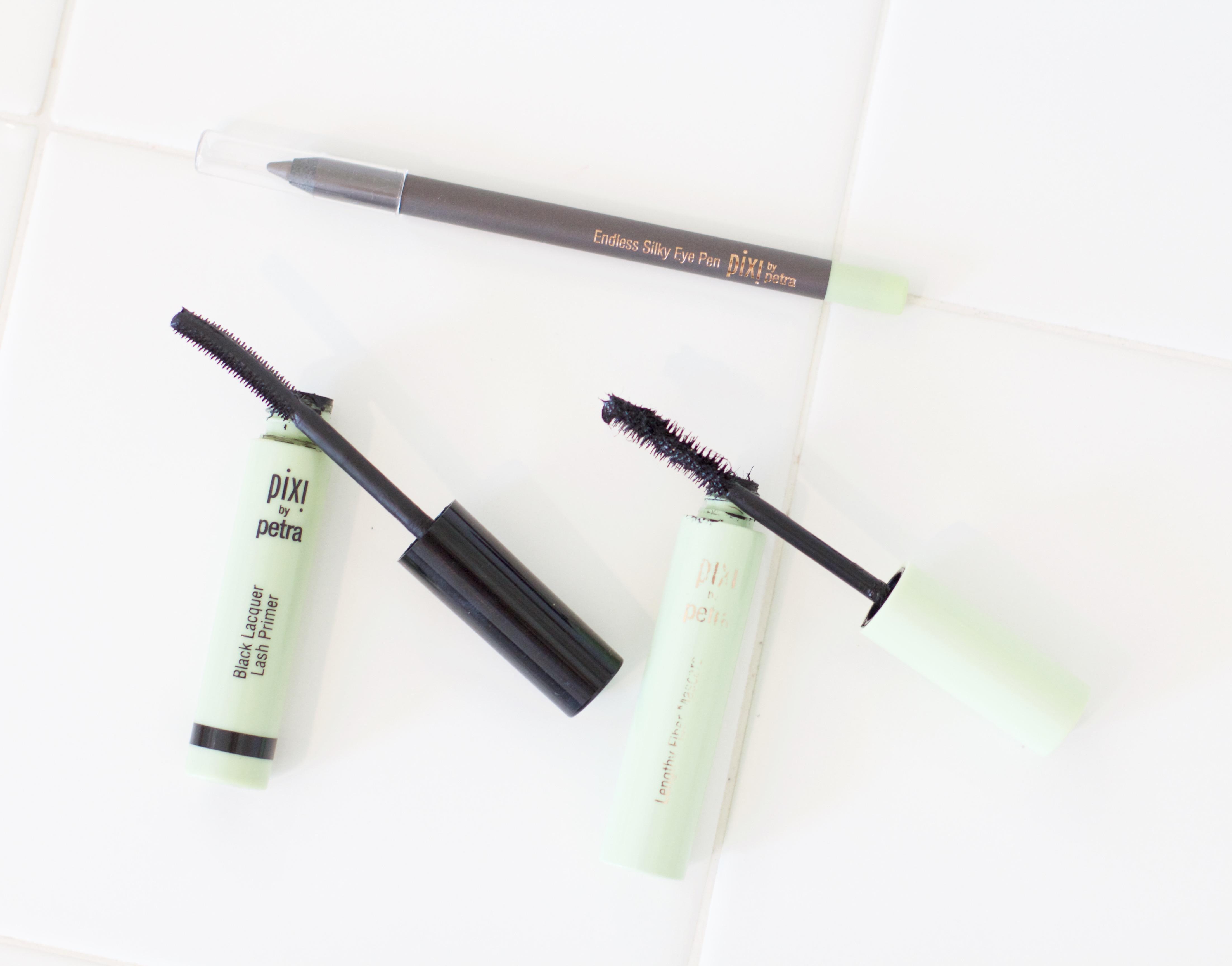 pixi mascara review lengthy fiber, lash primer