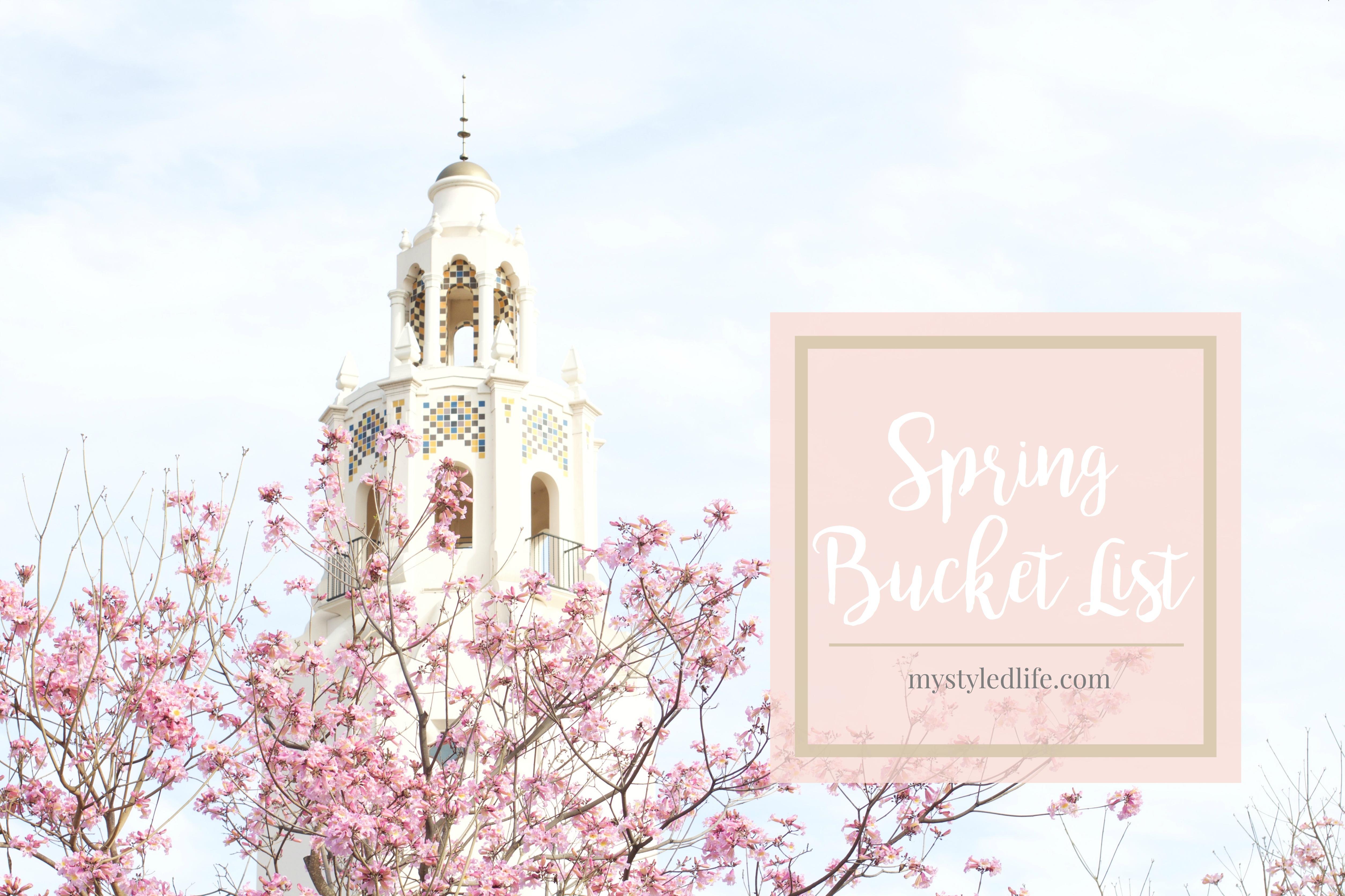 spring bucket list ideas 2017
