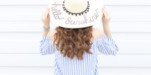 Hello Sunshine…Sequin Floppy Sun Hat