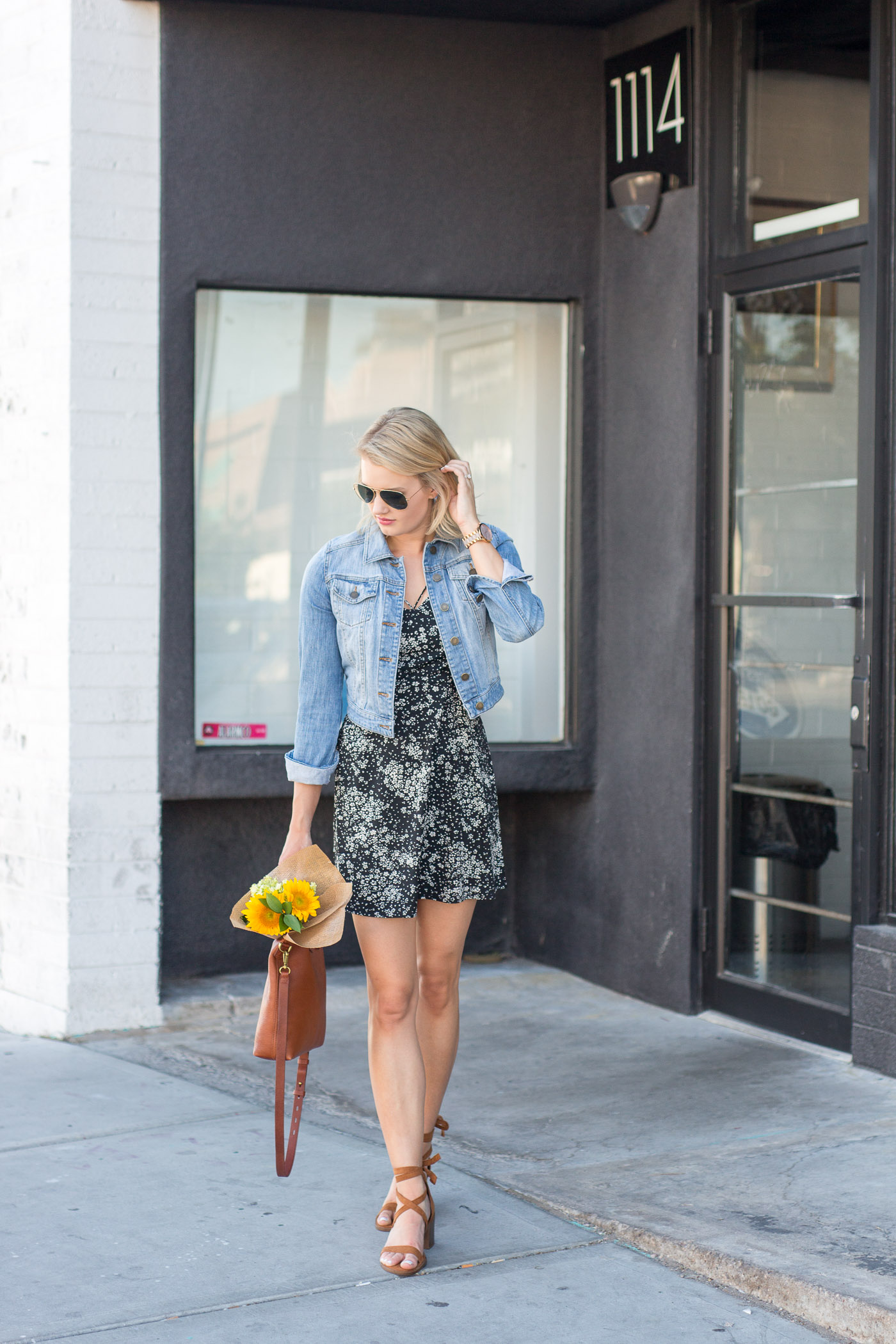 Two Ways to Style a Denim Jacket for Summer - Treats and Trends
