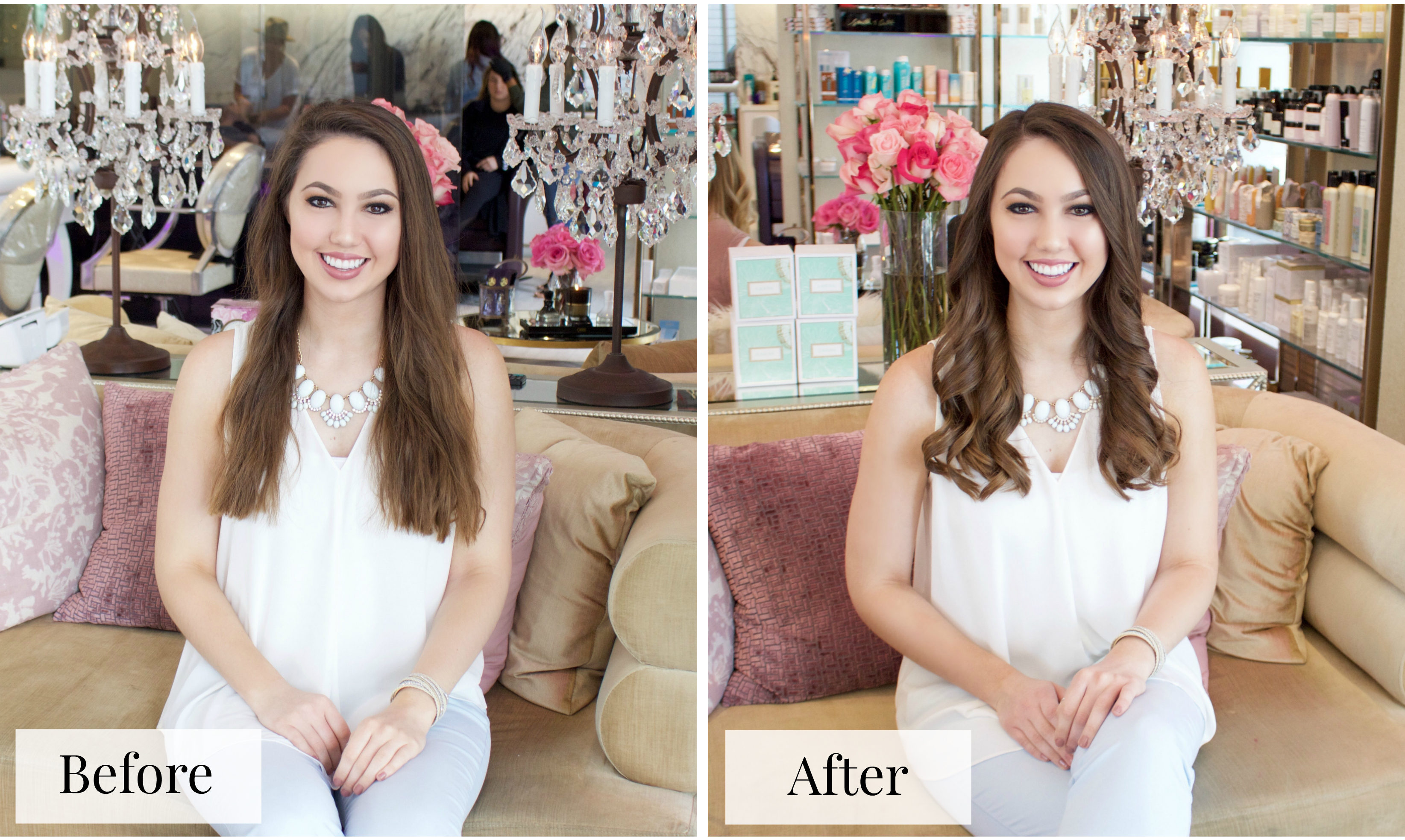 Lavender Salon before and after