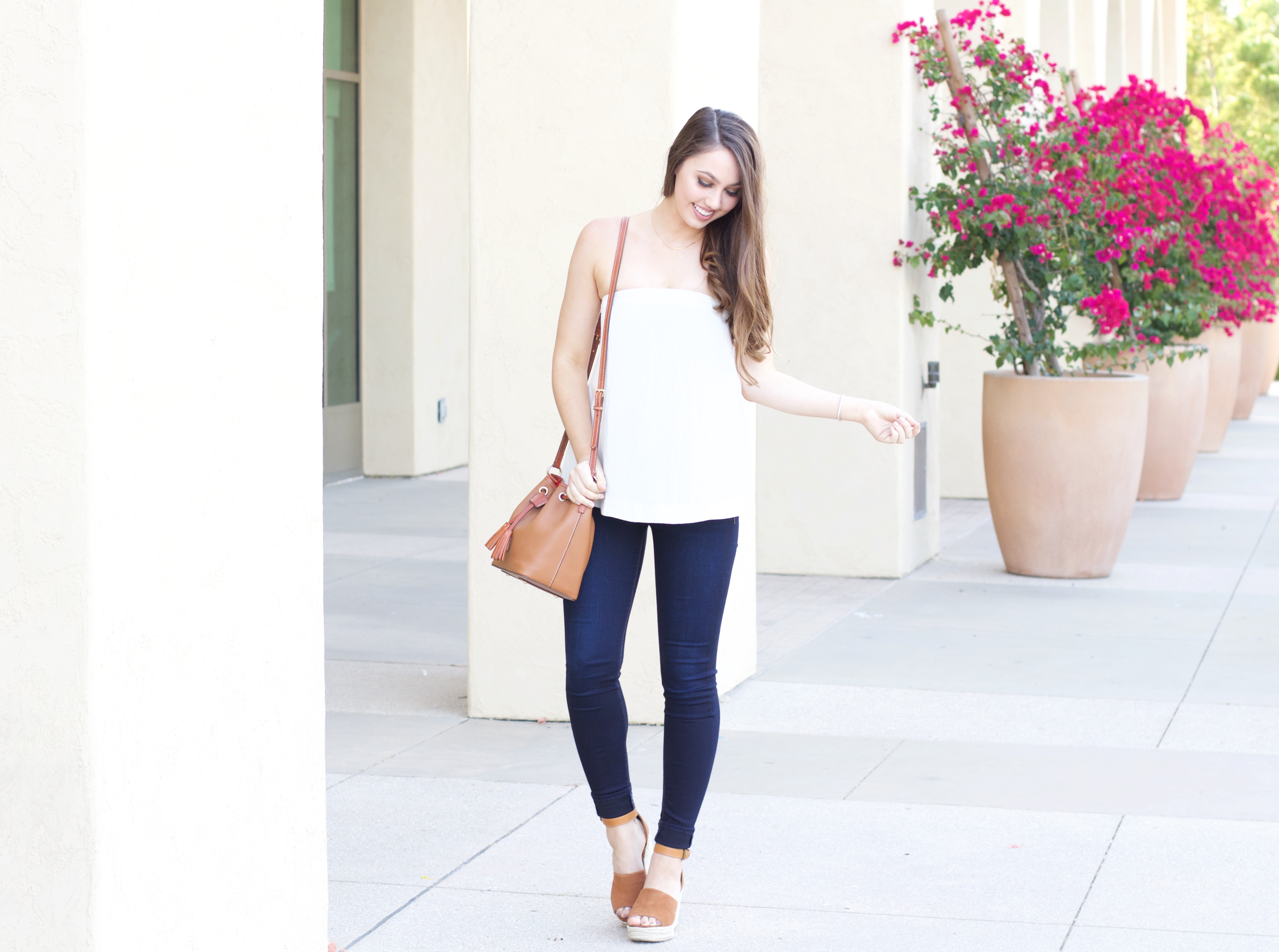 how to style a strapless top