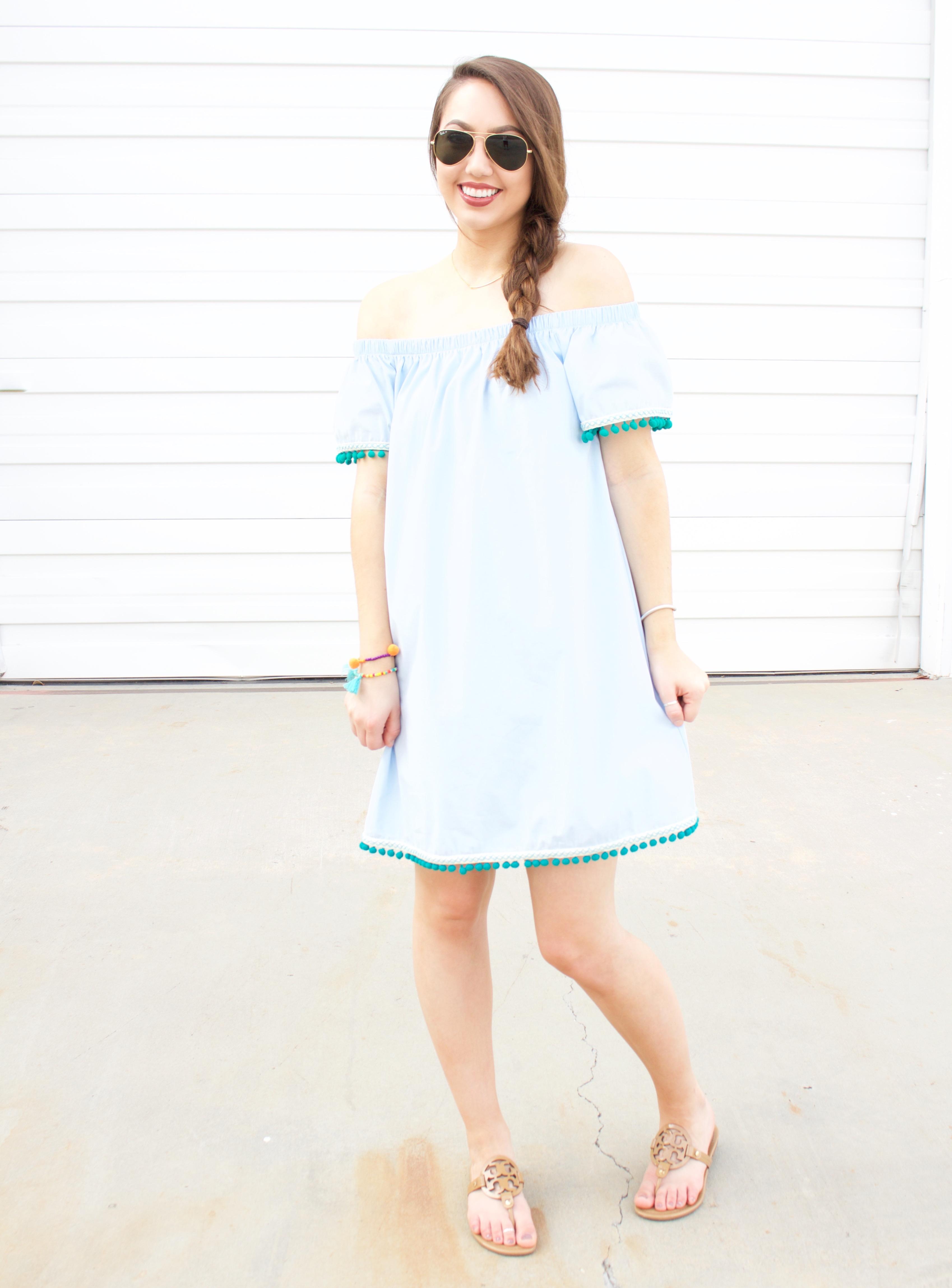 off the shoulder dress Gray Monroe