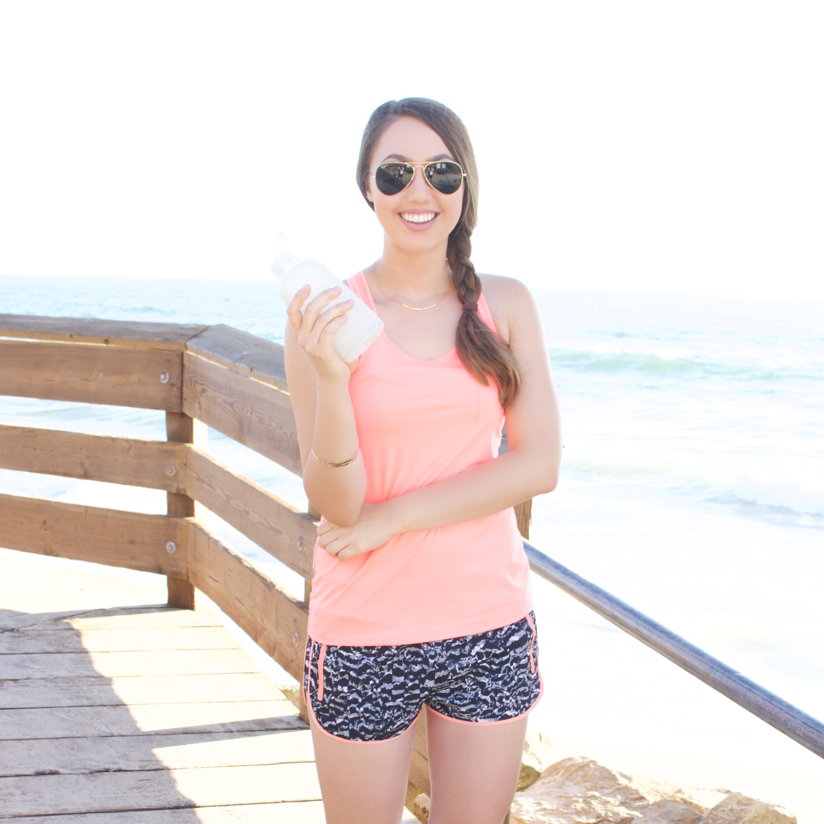 Fabletics workout outfit pink
