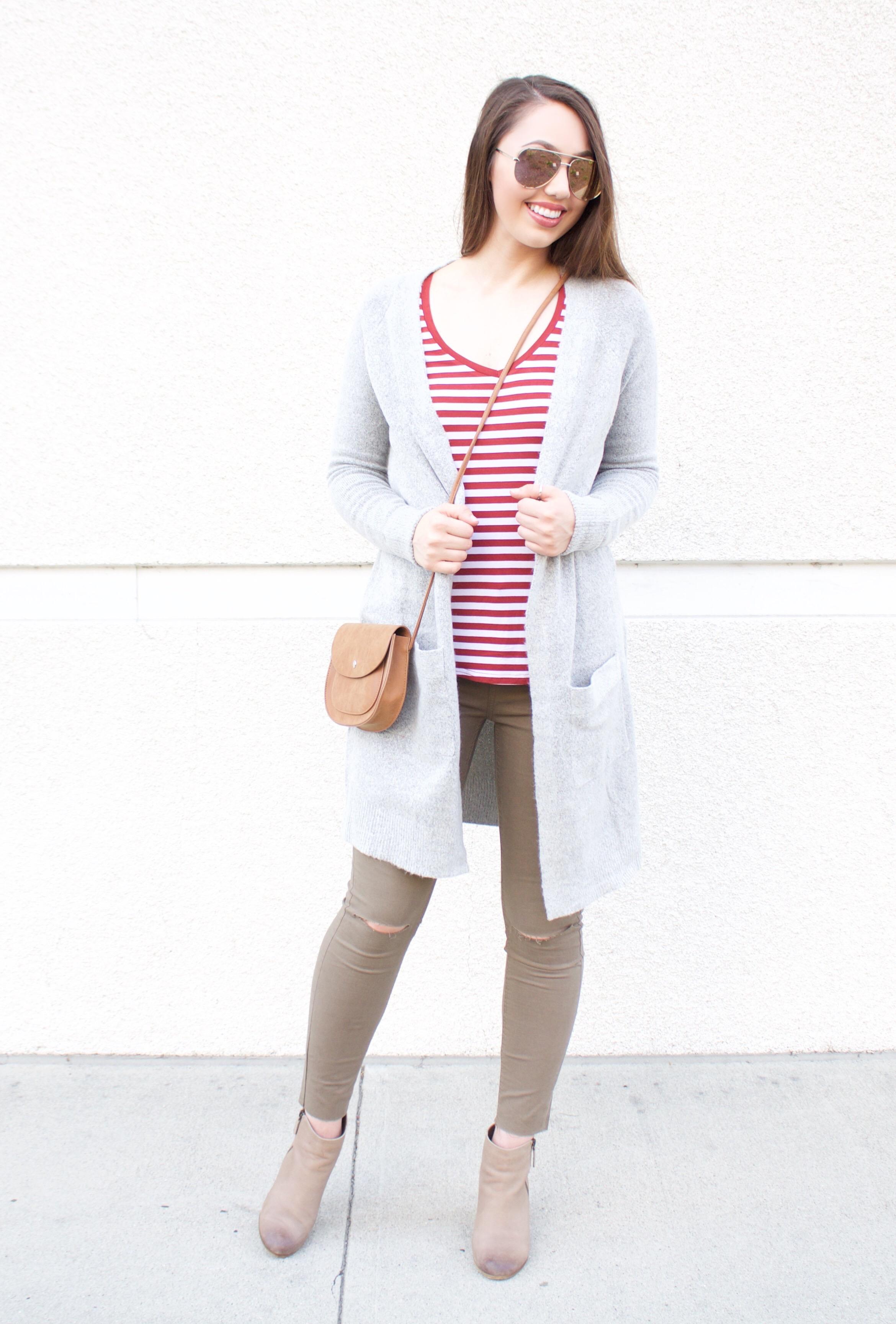 cute fall outfit idea 2017