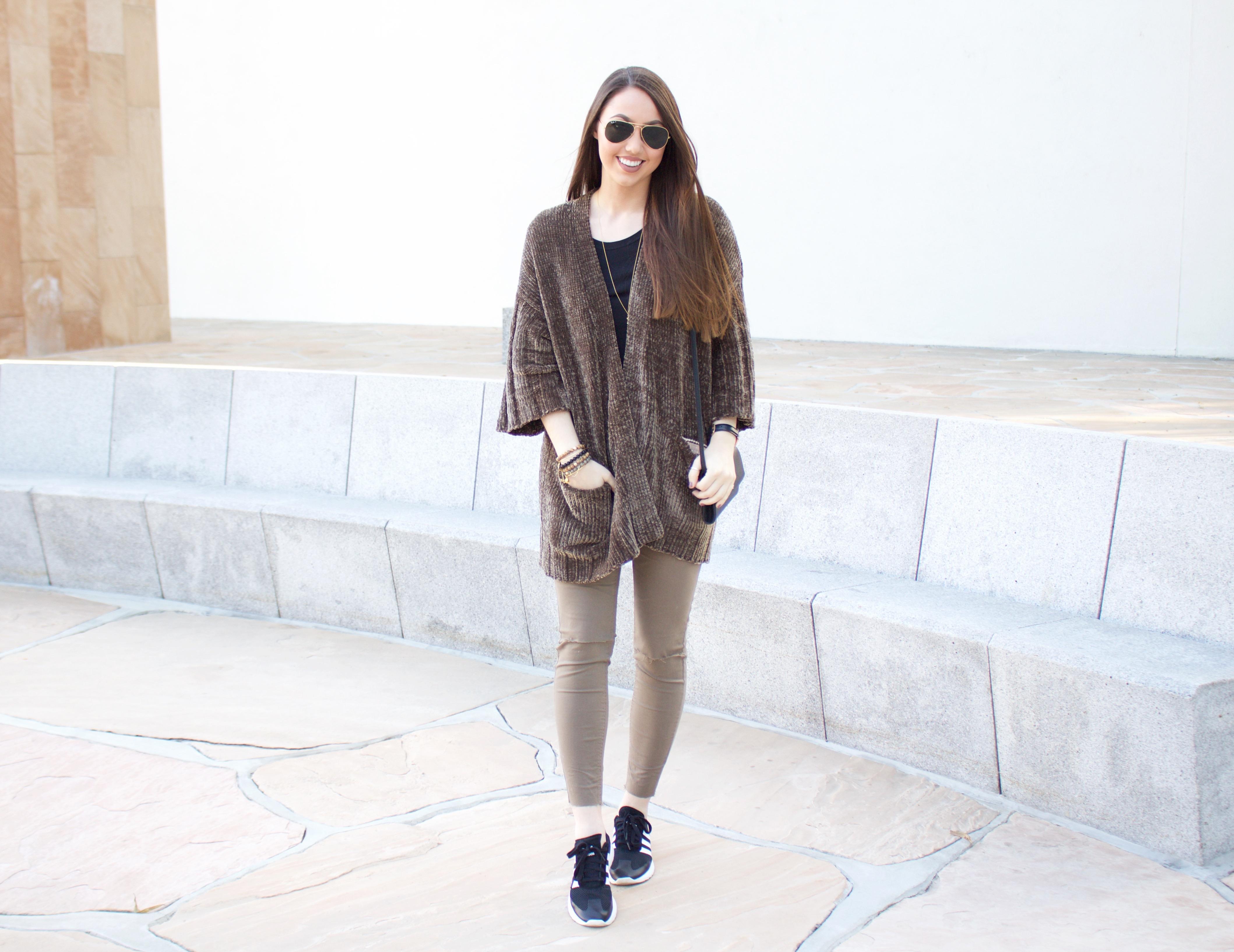 chenille sweater : cardigan