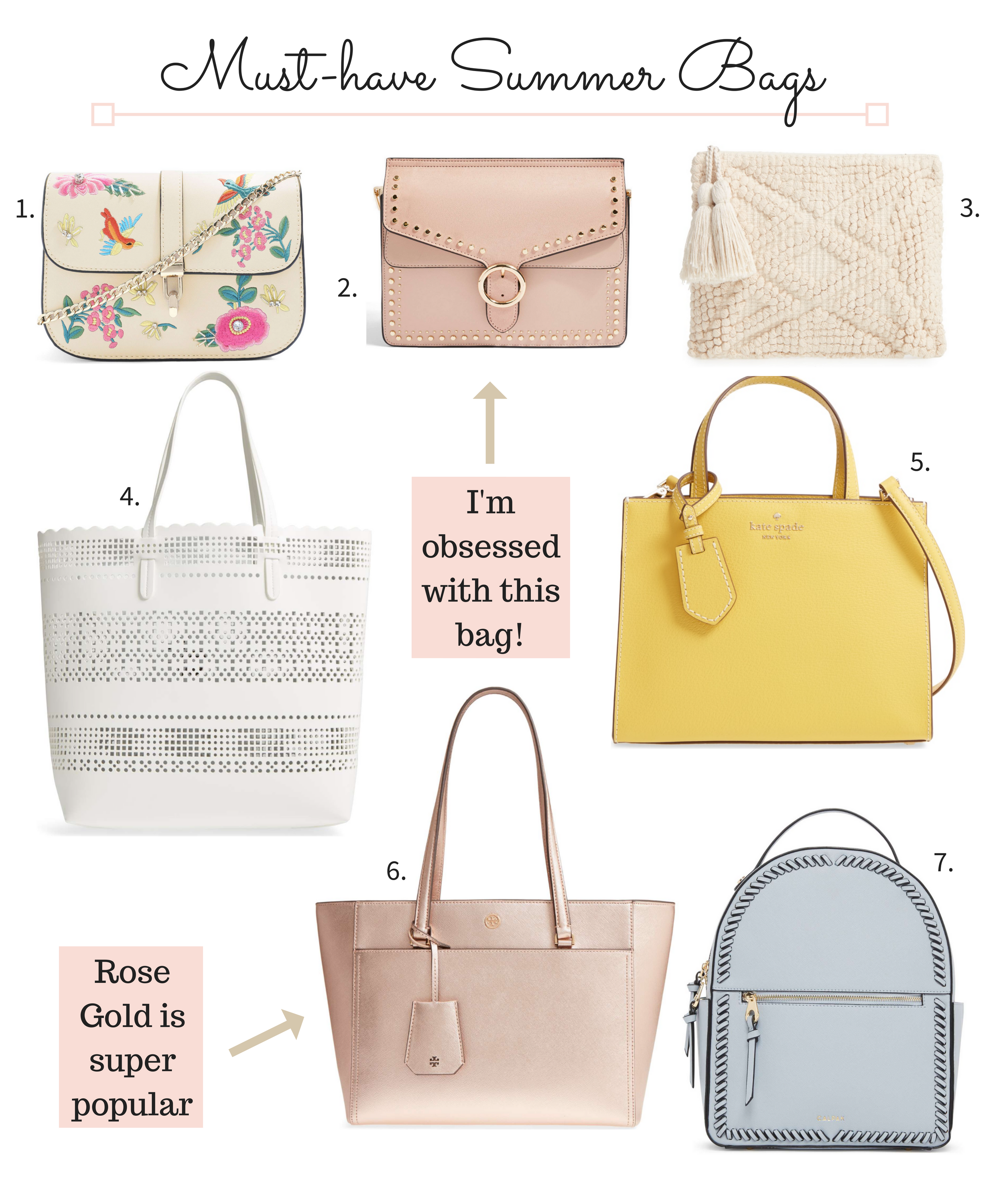 7 Must-have bags for Summer