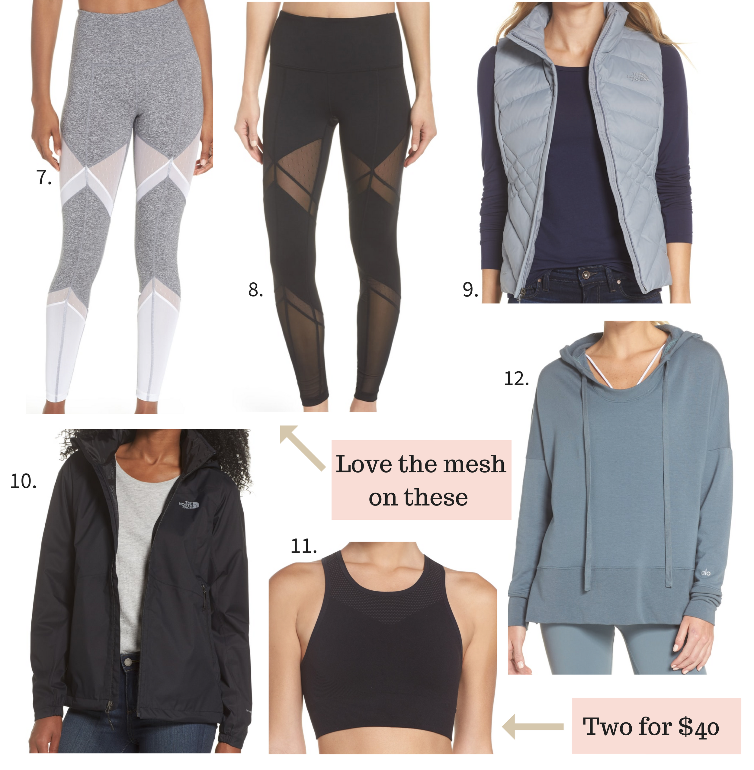 Nordstrom Anniversary Sale 2018 workout clothes