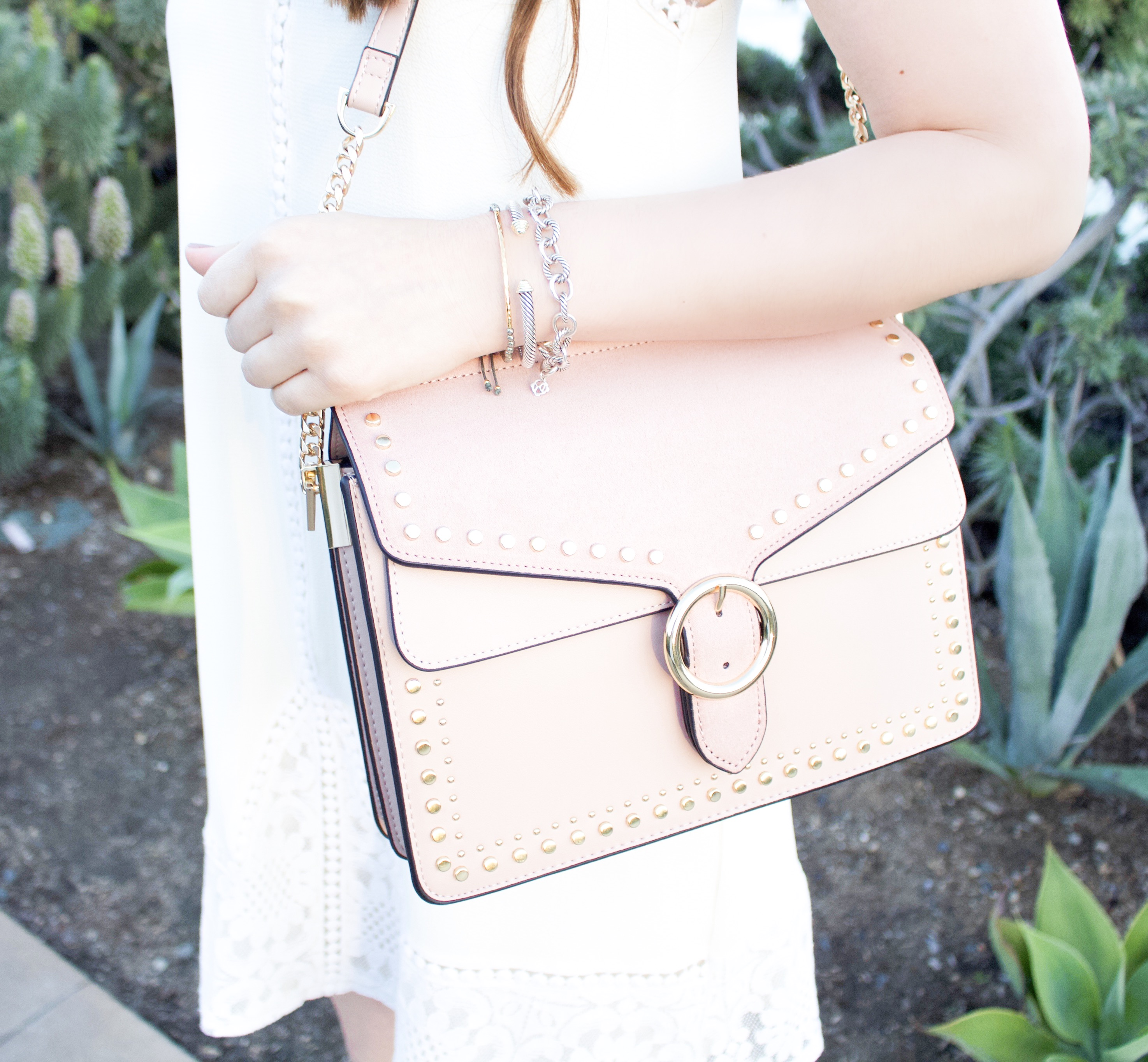 Topshop blush pink bag