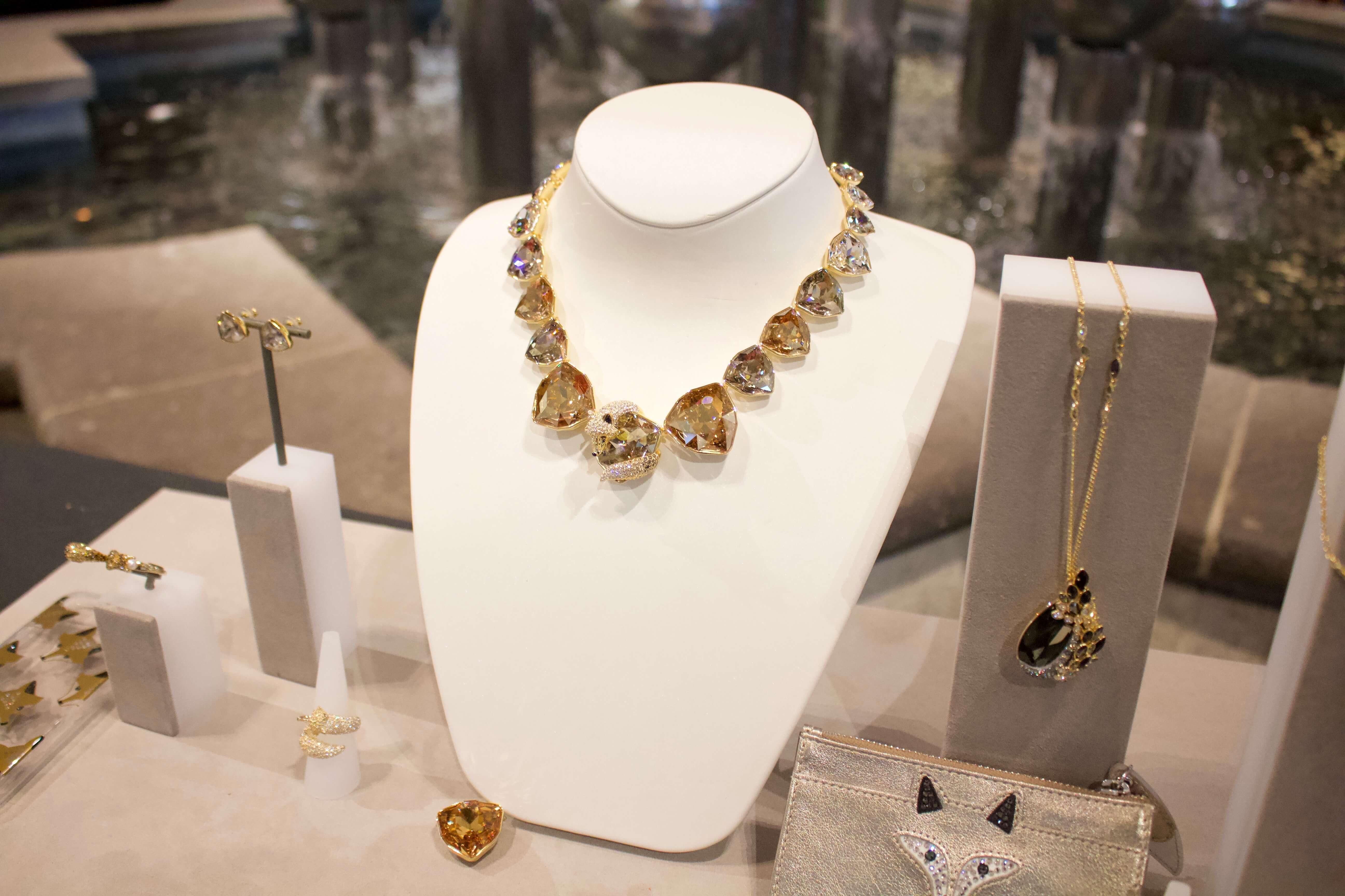 swarovski holiday necklace brea mall