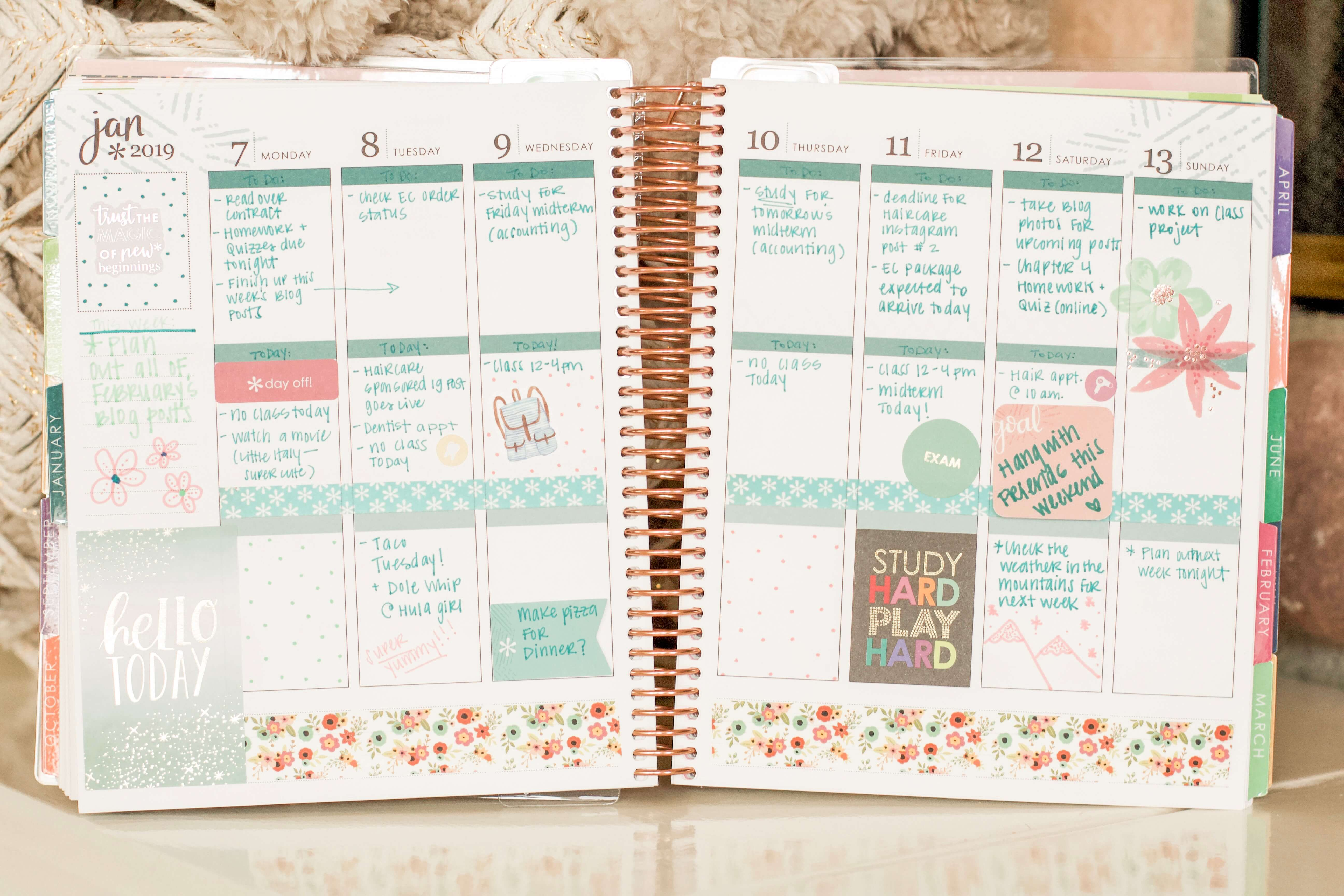 erin condren planner ideas 2019