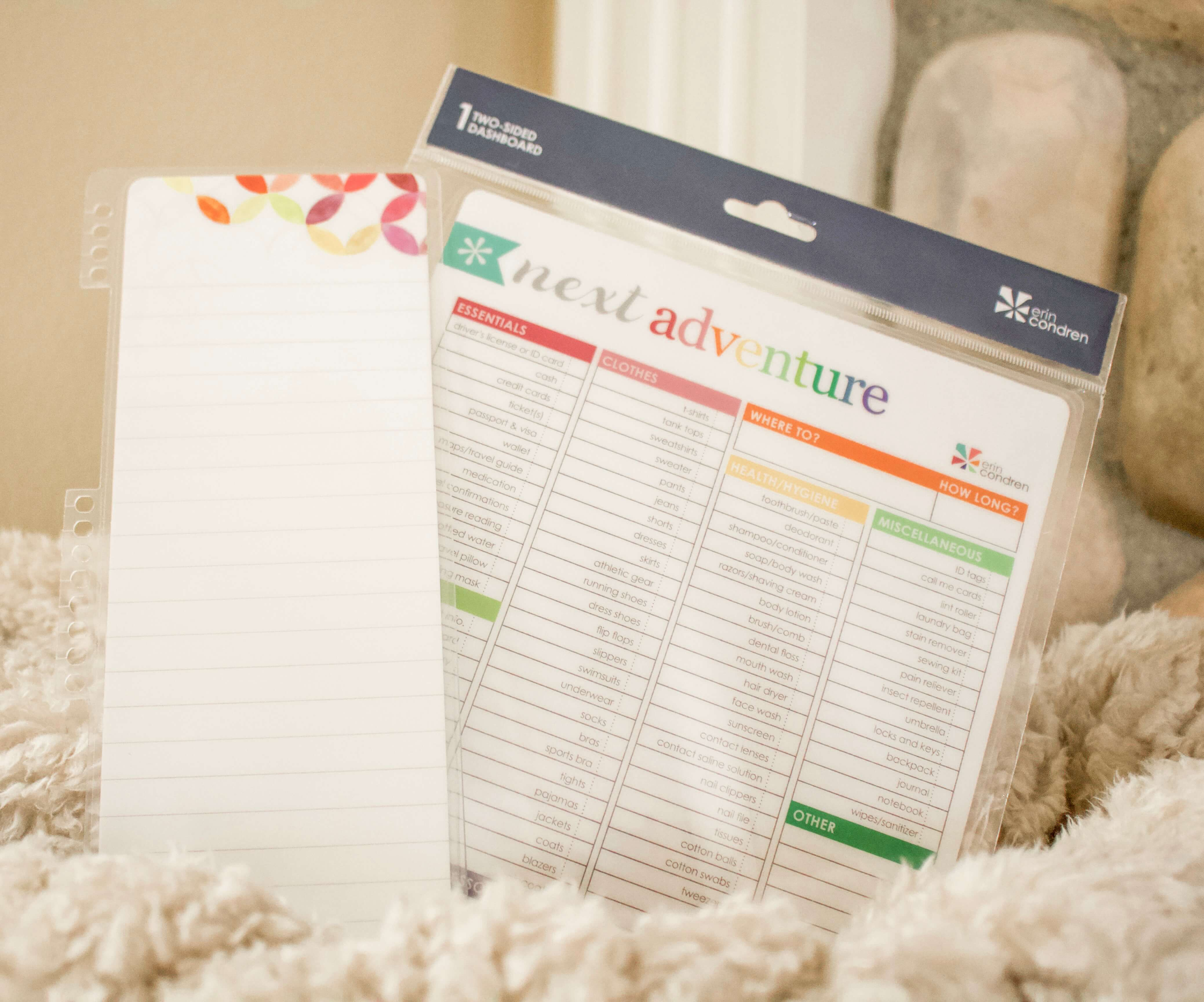 snap-in dashboards Erin Condren lifeplanner