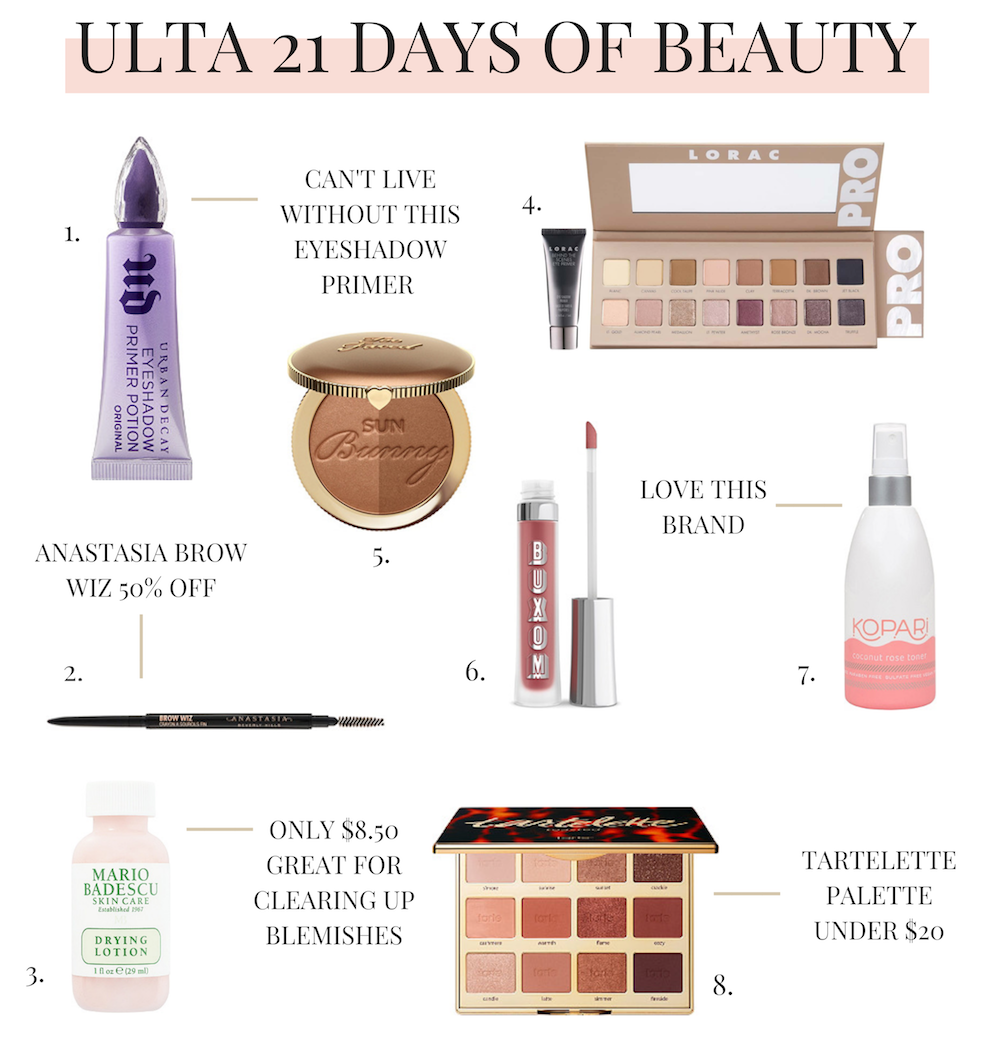 Ulta 21 Days of Beauty Sale 2019 - 8 Must-Haves