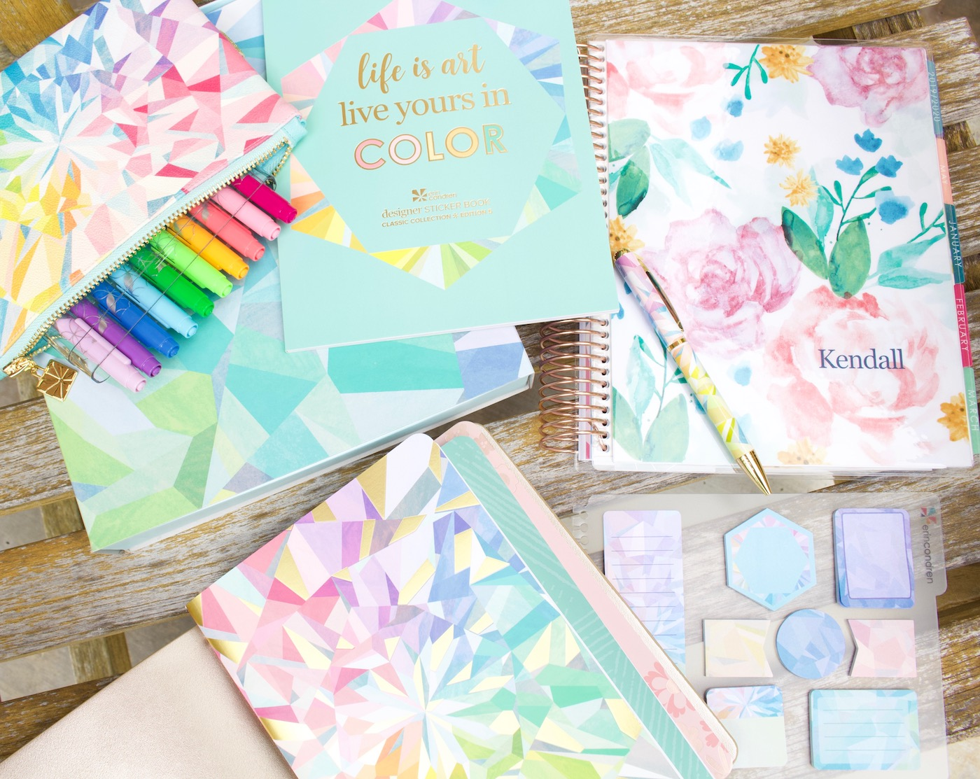 Erin Condren 2020 lifeplanner and accessories review