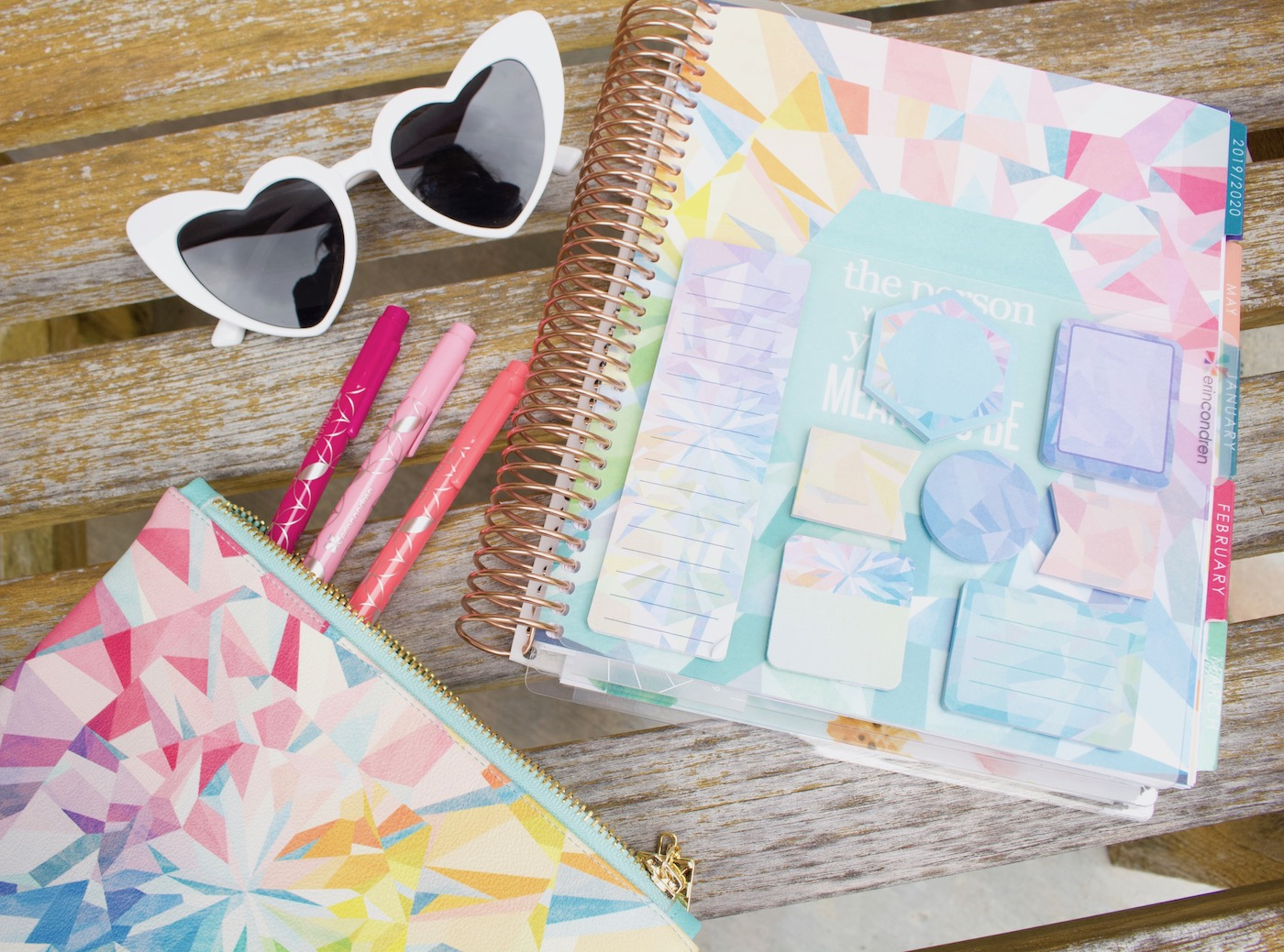 Erin Condren Planny Pack Kaleidoscope and sticky notes