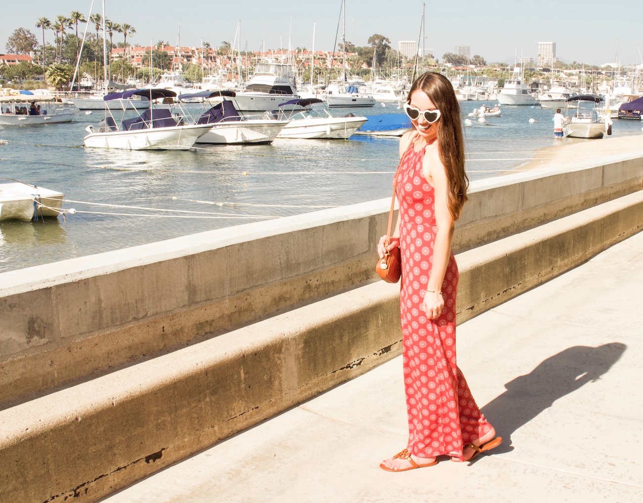 red printed jumpsuit