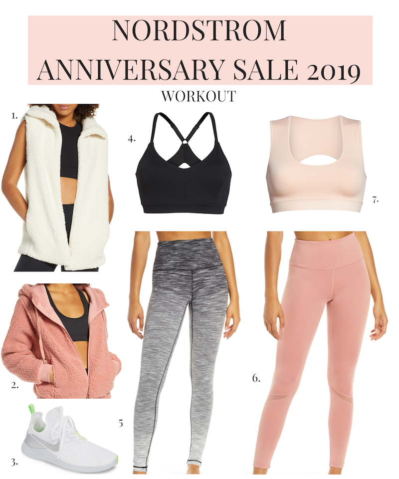 nordstrom anniversary sale 2019 workout clothes