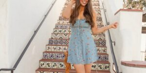 astr the label blue dress