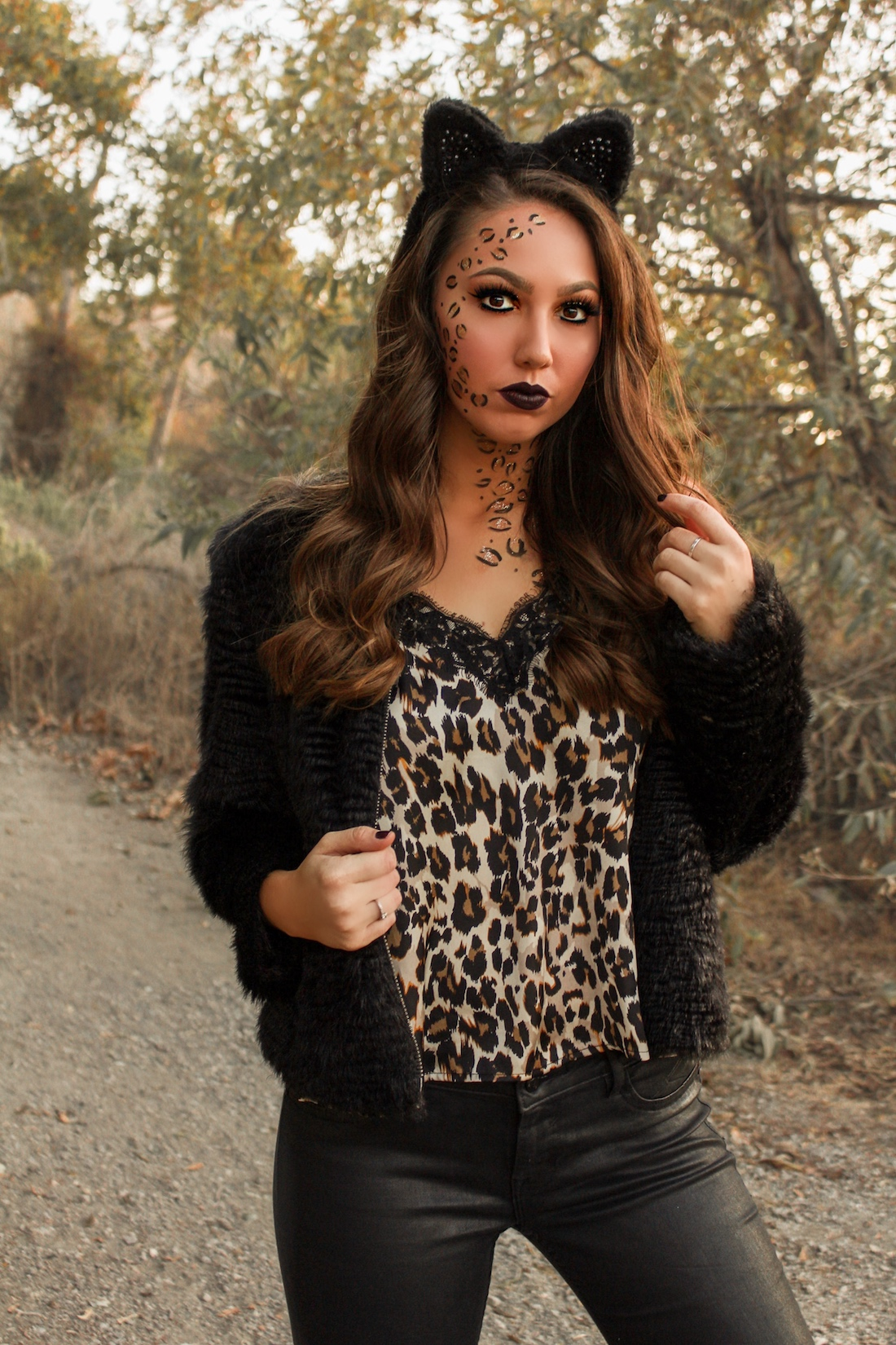 halloween leopard cheetah makeup