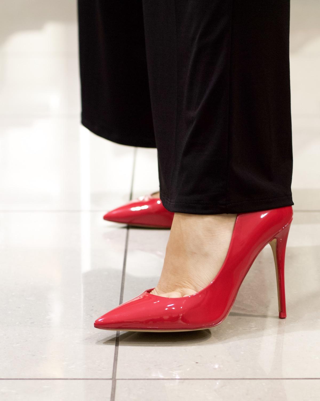 aldo red patent heels