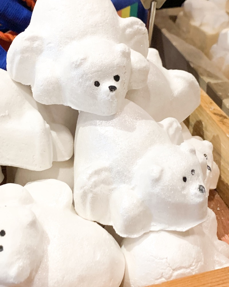 lush polar bear bath bombs