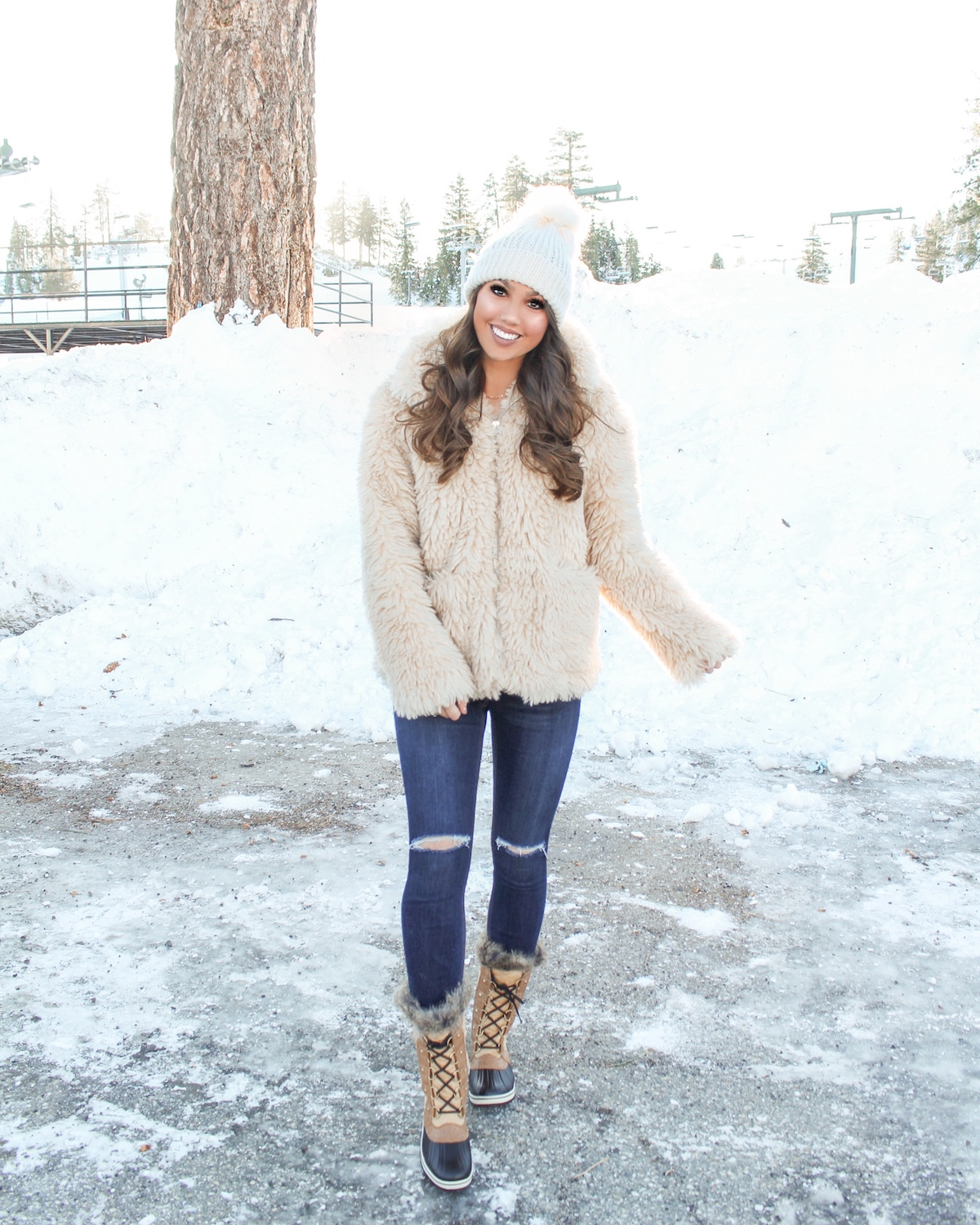 snow boots outfit idea