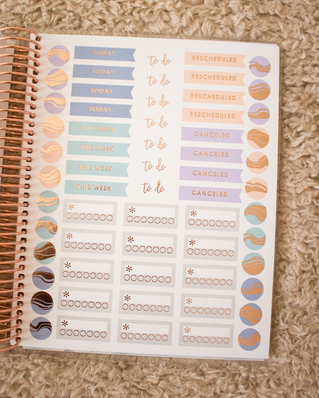 sticker sheets life planner