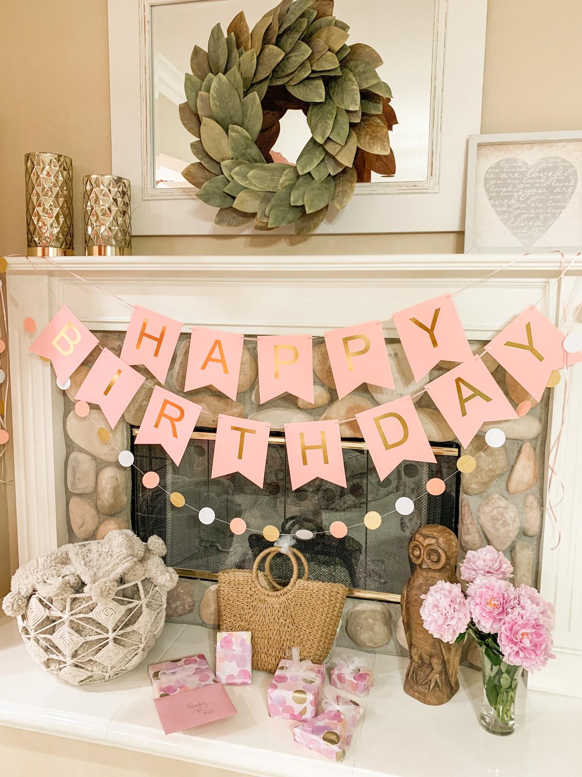 amazon birthday banner pink