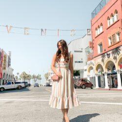 cute block stripe summer dress