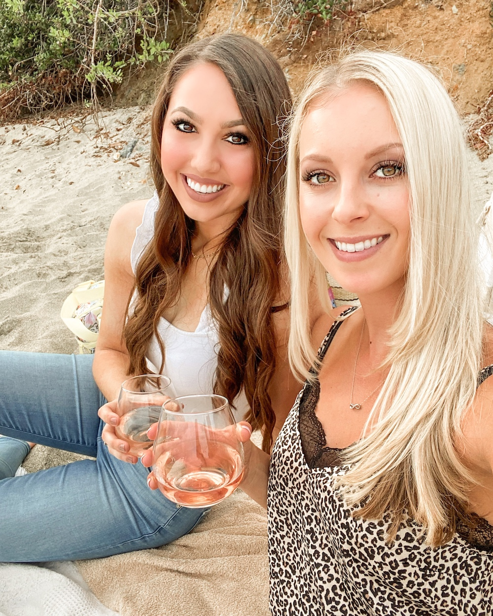 girl's night out beach picnic