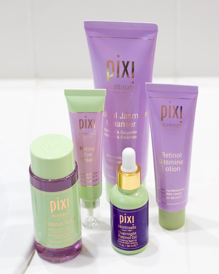 pixi retinol and jasmine collection