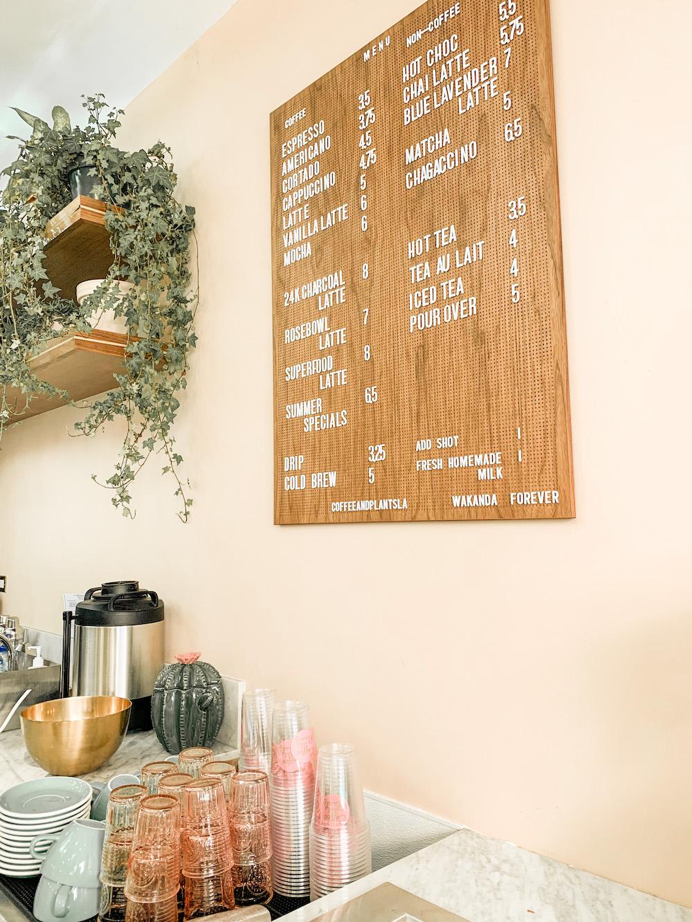 cute coffee shops LA