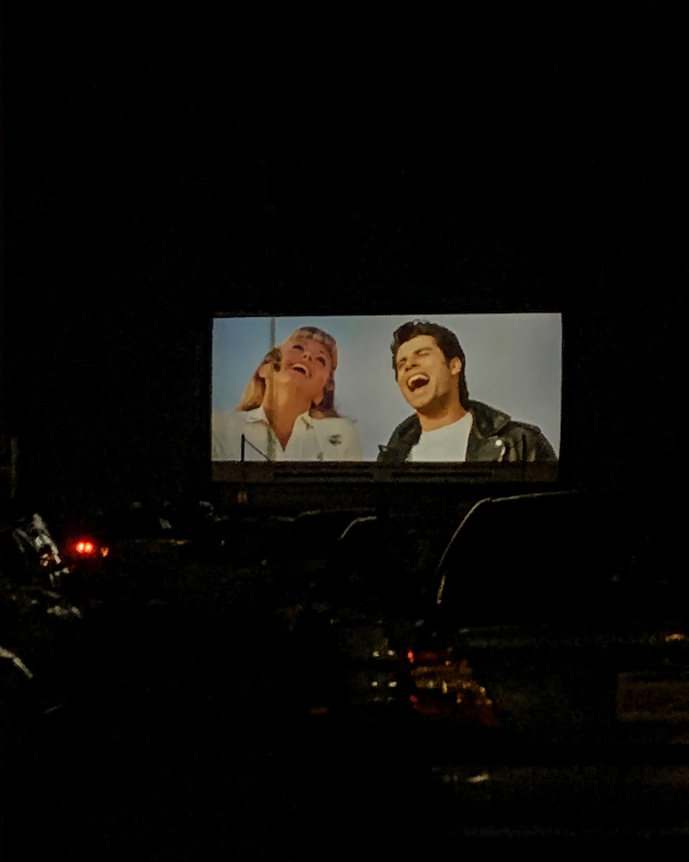 drive in movie theater grease